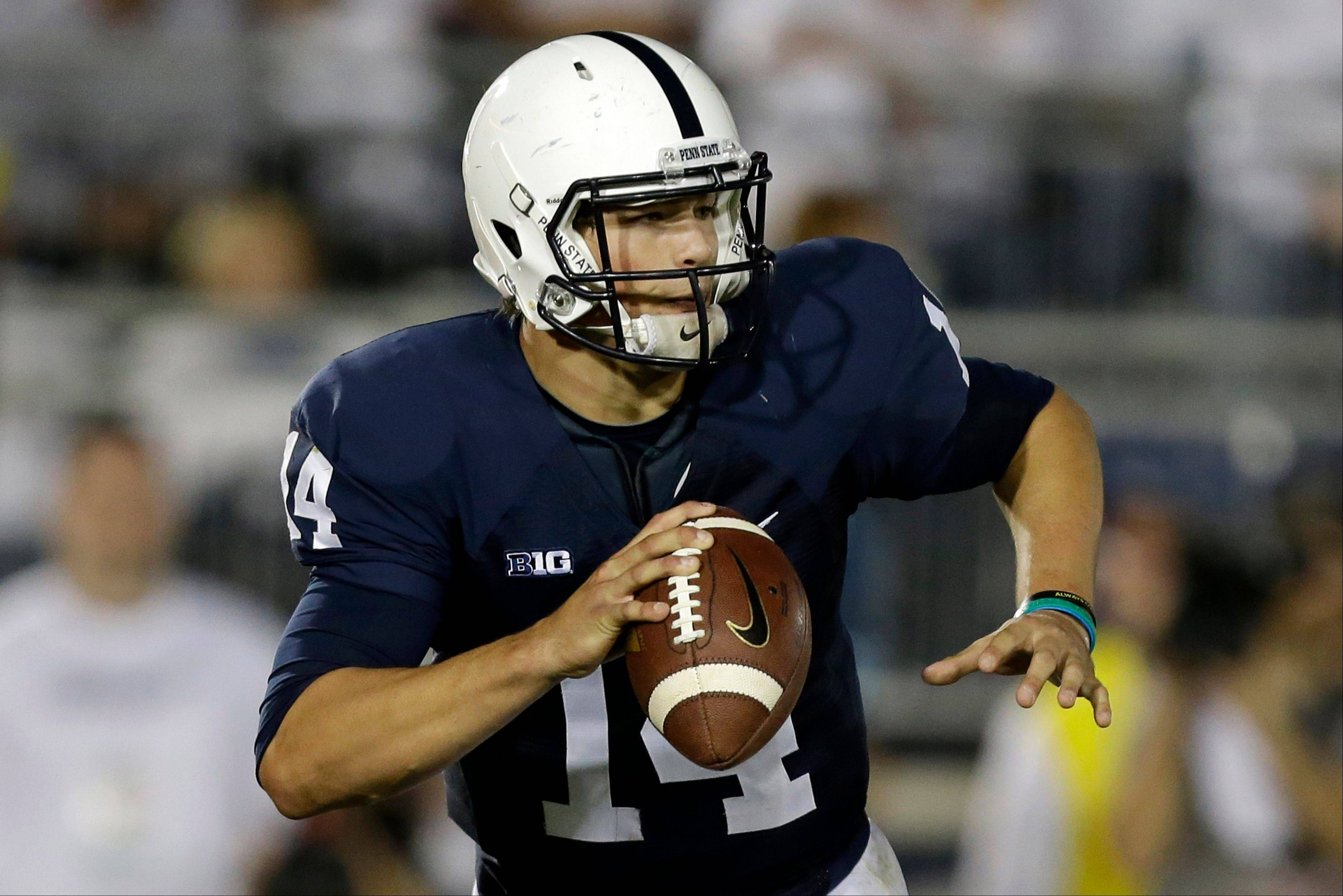 Penn State freshman quarterback Christian Hackenberg leads the Big Ten in completions (132) and passing yards per game (279).