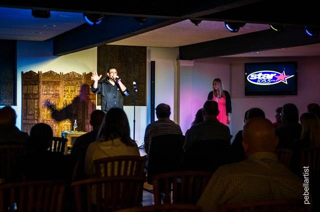 Joe Cicero and Tina Bree from STAR 105.5 perform at 'the Listening Room' within Lakeside Legacy Arts Park on 10/17. The comedy show raised money for the Care4 Breast Cancer 5k.
