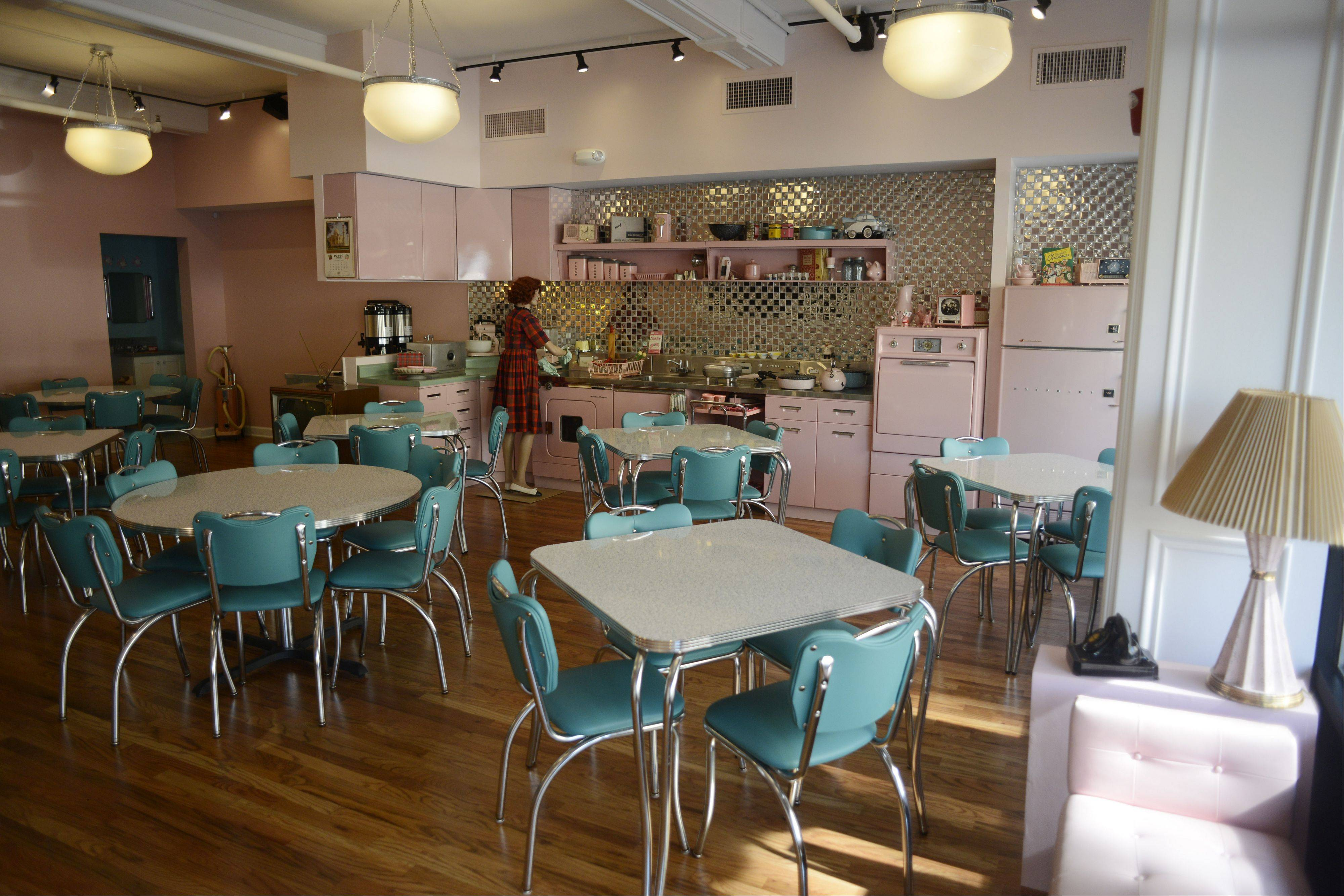"The ""50s House"" dining room of Circa 57 restaurant in Arlington Heights replicates a bungalow, while another portion of the restaurant is a vintage diner."
