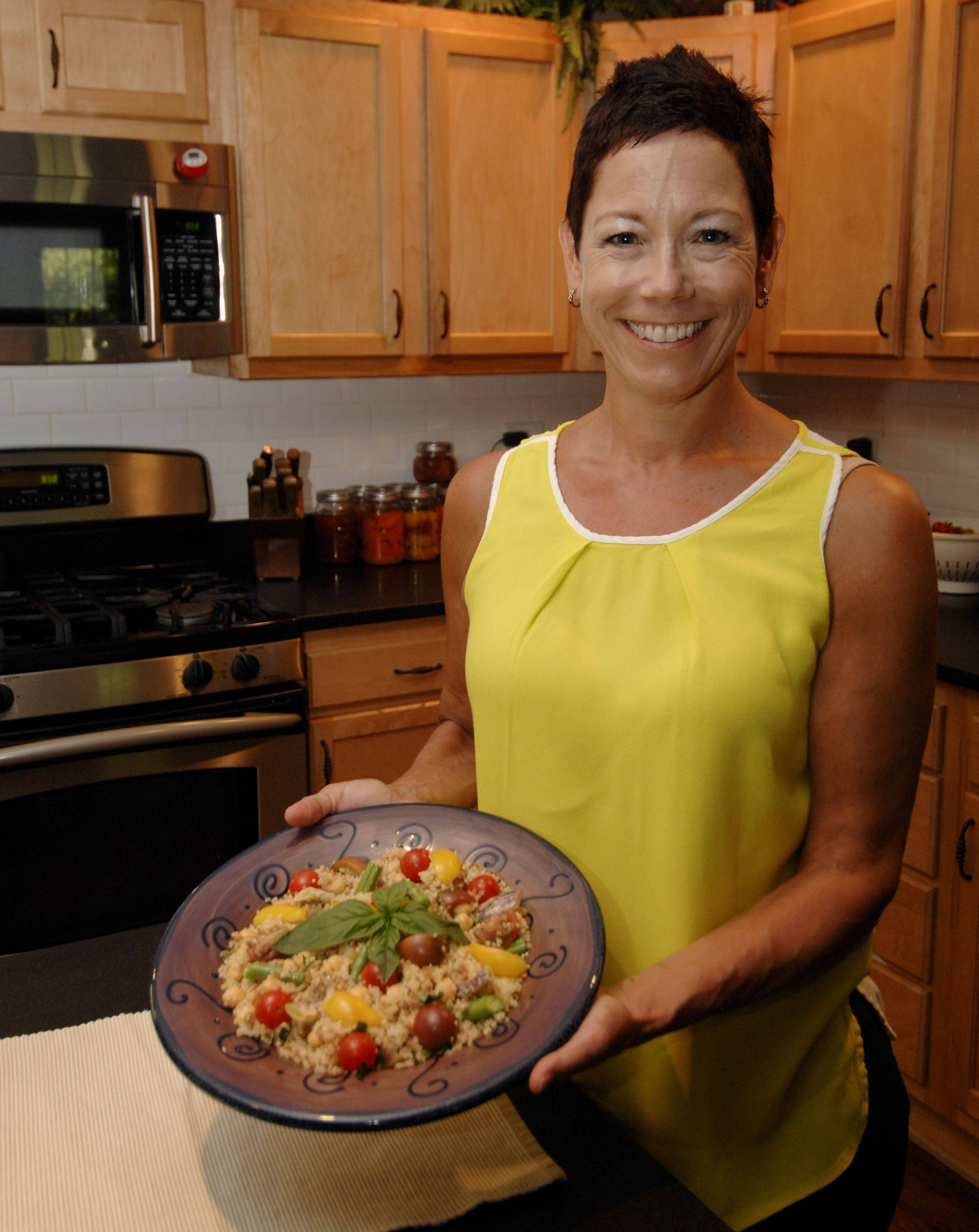 Not losing sight of her first goal to feed her family healthy meals, Lori Motyka impressed judges with sardine-topped flatbread and cod caponata.