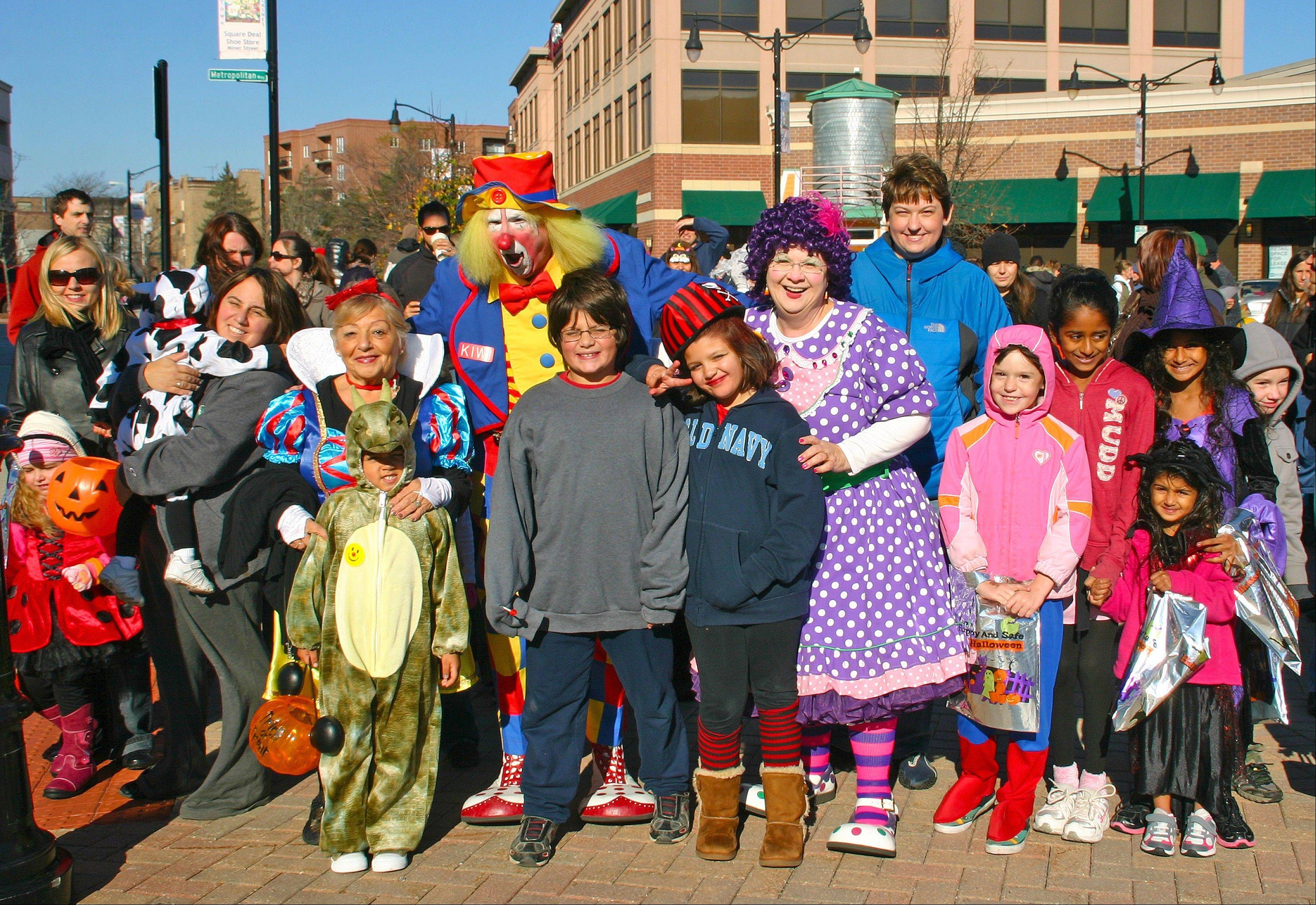 Join Kiwi, left, and Jewels in the annual Halloween Hoopla parade and Safe Trick or Treating around Metropolitan Square on Oct. 26.