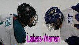 The Lakers and Warren high school hockey teams will face off Saturday night for a �Pink Out� game at Rink Side in Gurnee.