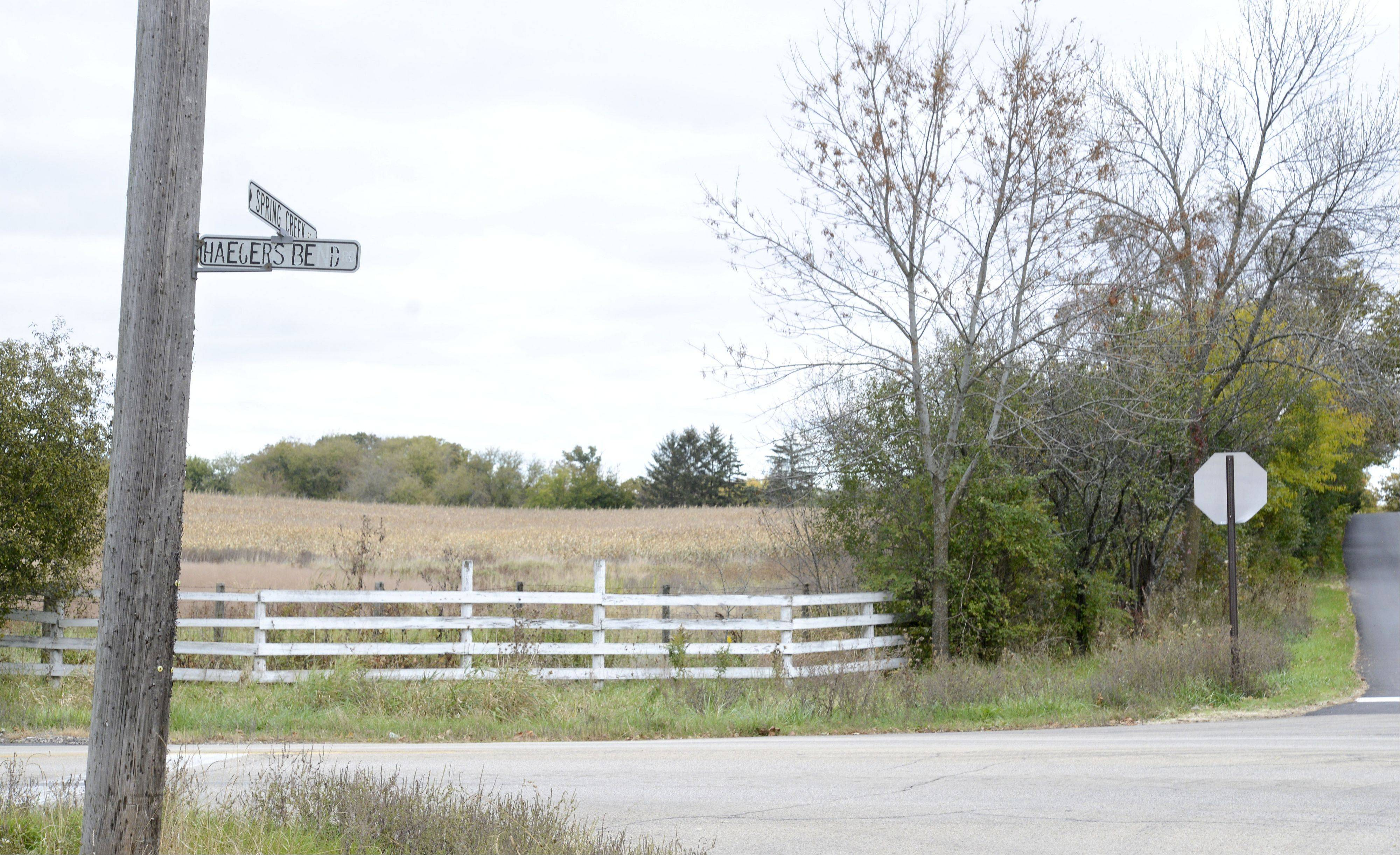 The Fritz Duda Co.'s 602 acres near Barrington Hills is on the market for $17 million. The Dallas-based company and the village waged a long and intense legal fight that led to much of the property's deannexation from Barrington Hills.