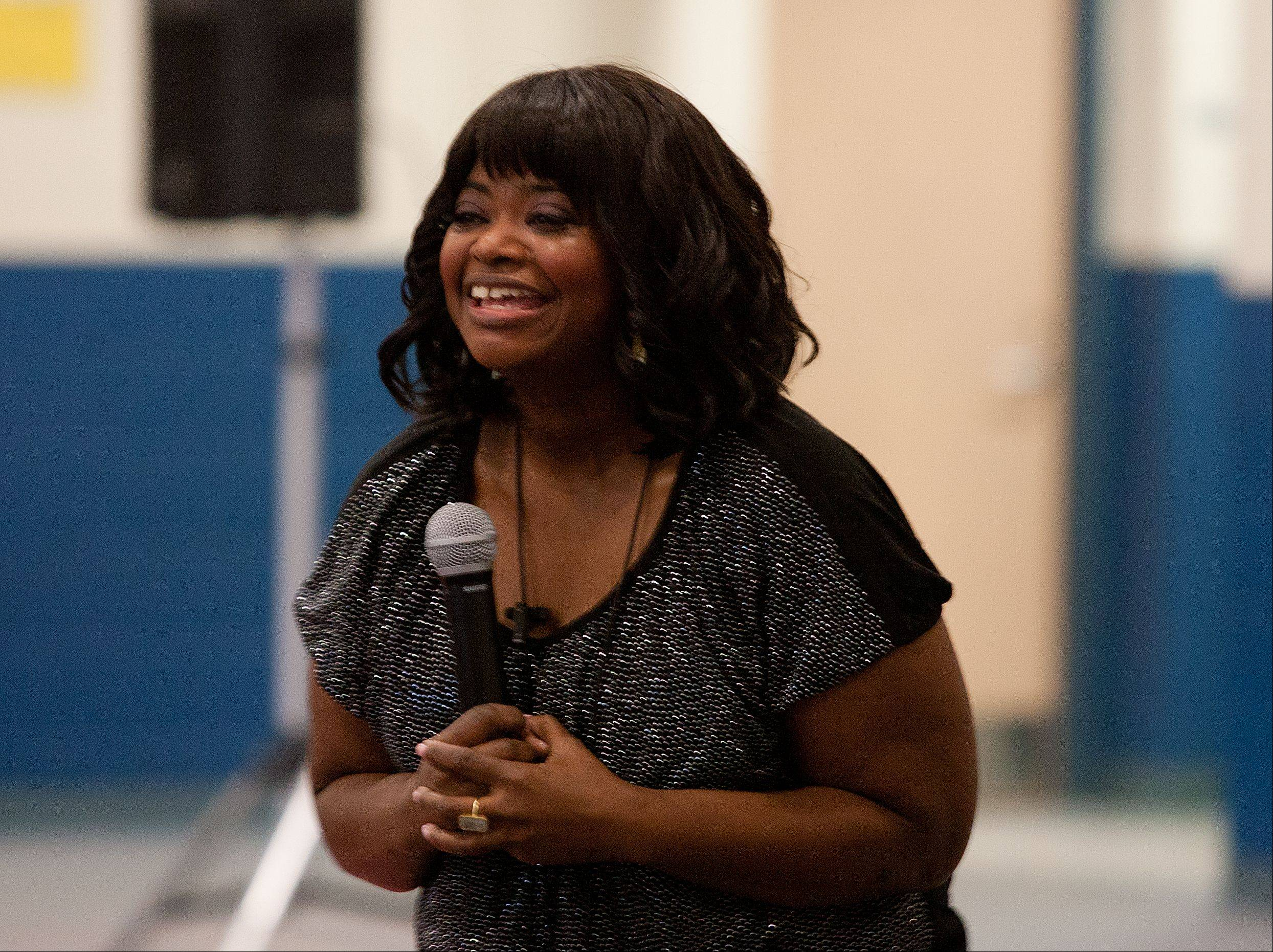 "Actress and author Octavia Spencer tells students she ""always wanted to be a ninja and always wanted to be a detective."""