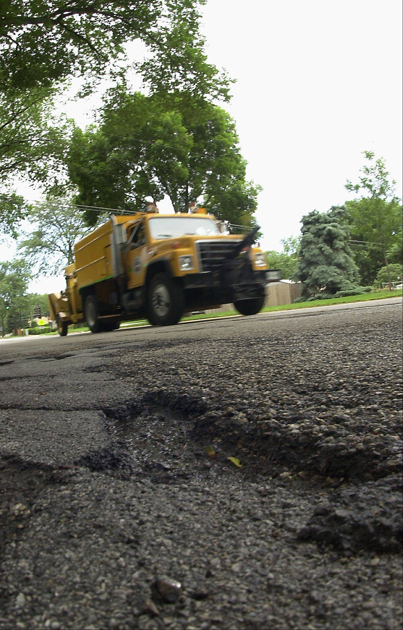 Mount Prospect leaders are discussing a $6.5 million bond issue as well as fee and tax hikes to address a lengthy backlog on street repairs. The hikes are expected to provide the village with an additional $2.1 million a year for street maintenance.