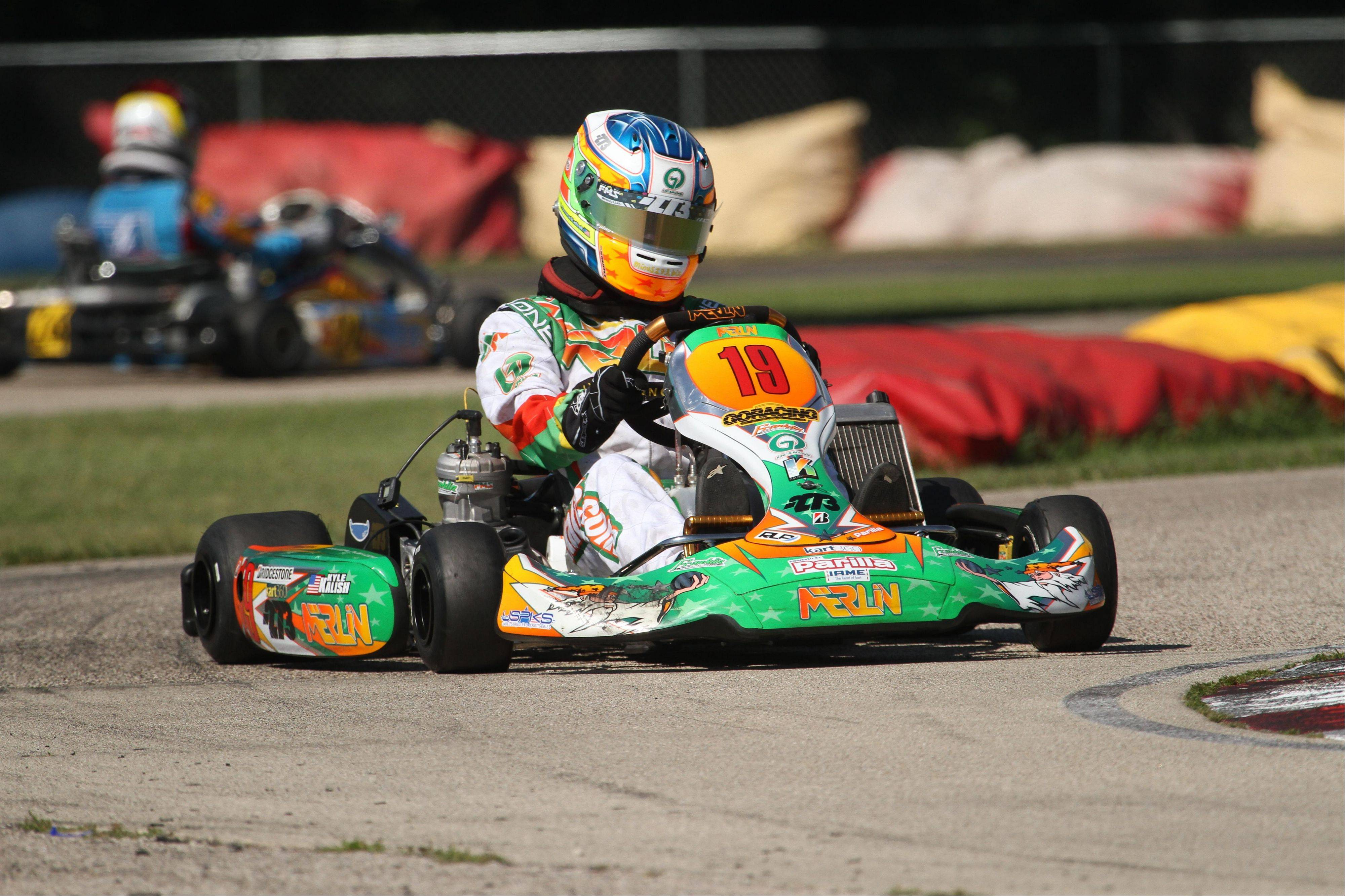 Kyle Kalish of Wauconda is a four-time national champion go-kart racer. The Mundelein High School junior's dream is to be a professional race car driver.