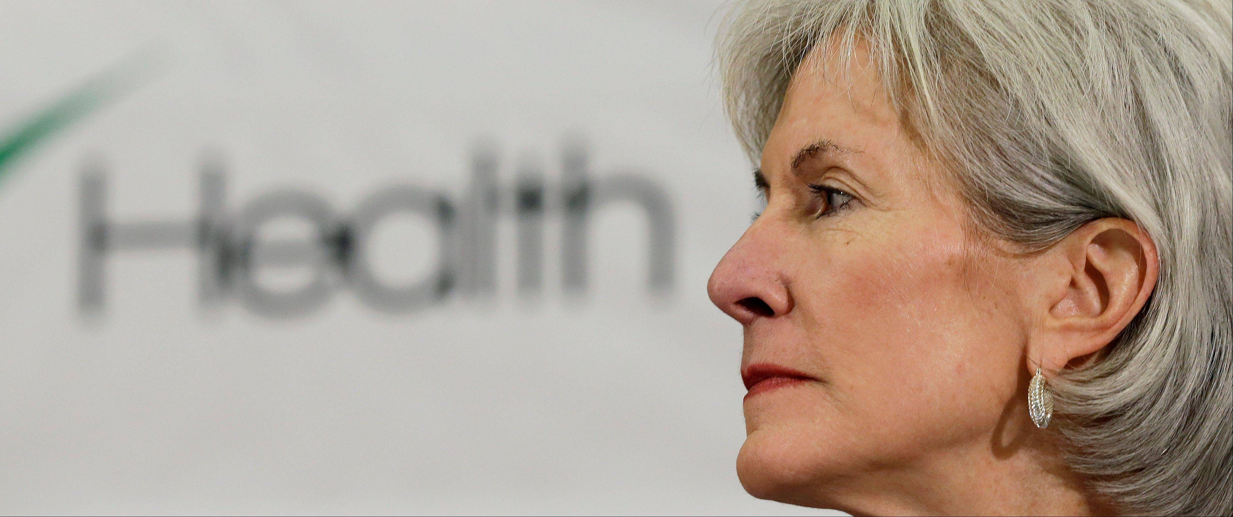Health and Human Services Secretary Kathleen Sebelius takes part in a panel discussion Friday to answer questions about the Affordable Care Act enrollment, in San Antonio.