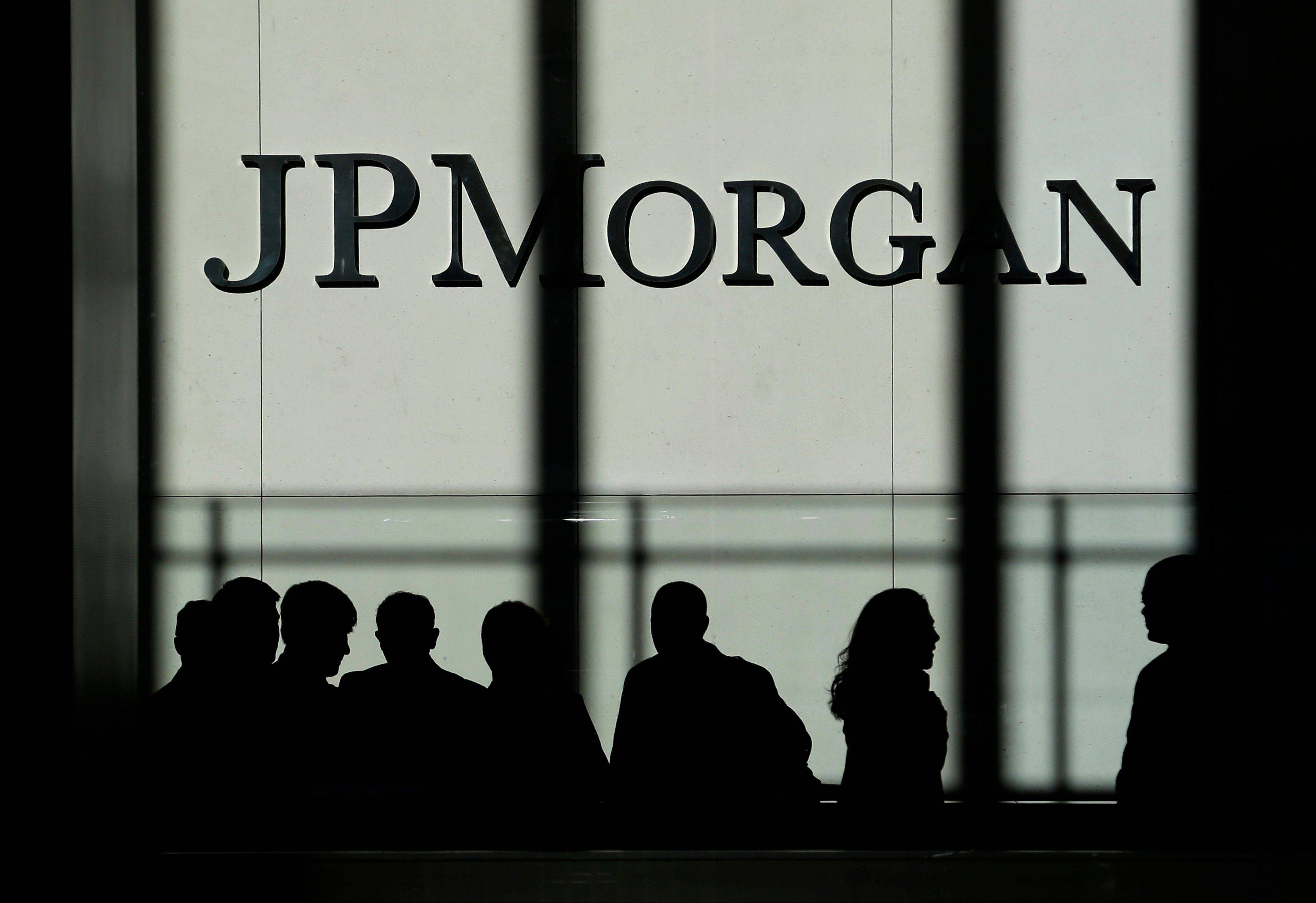 The JPMorgan Chase & Co. logo is displayed Monday at their headquarters in New York.