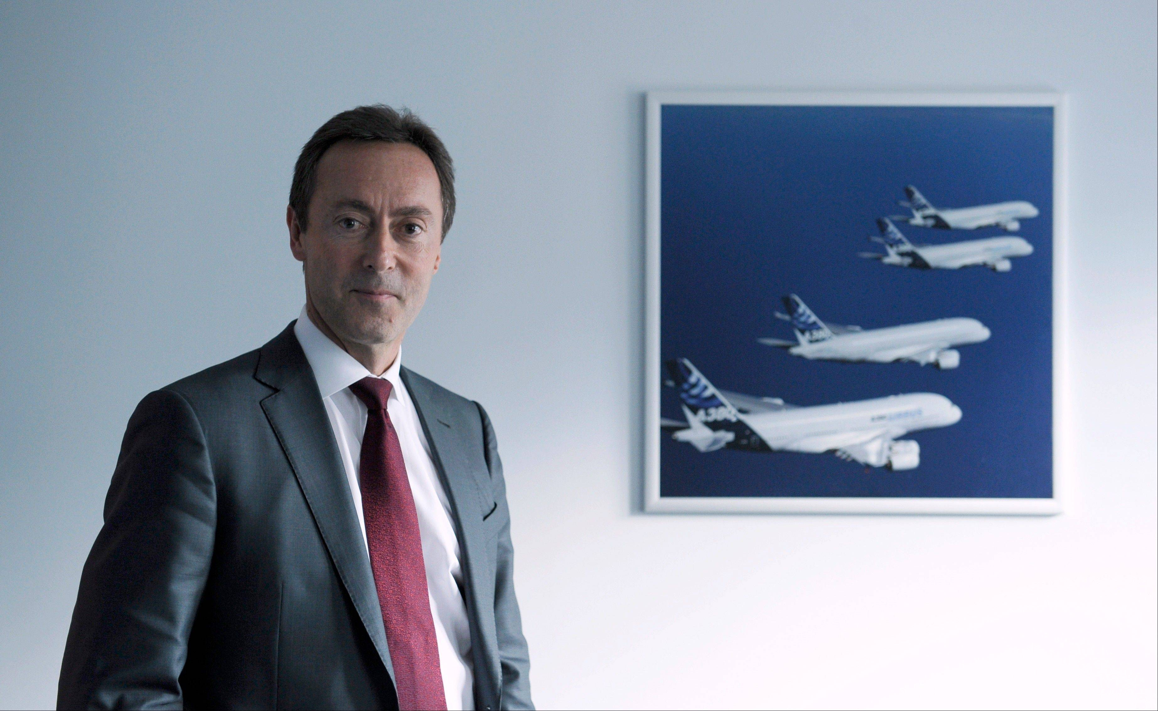 Airbus currently claims less than 20 percent of the U.S. commercial airplane market, but is aiming for 50 percent -- roughly the same as its market share worldwide, Airbus CEO Fabrice Bregier said in an interview Thursday.