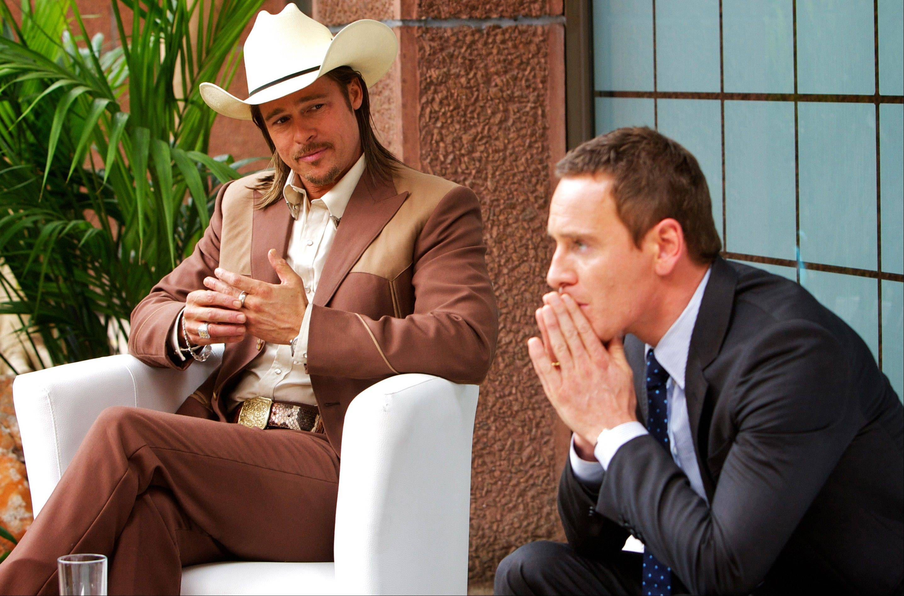 "A lawyer (Michael Fassbender) gets involved with a shady deal with Westray (Brad Pitt) in ""The Counselor."""