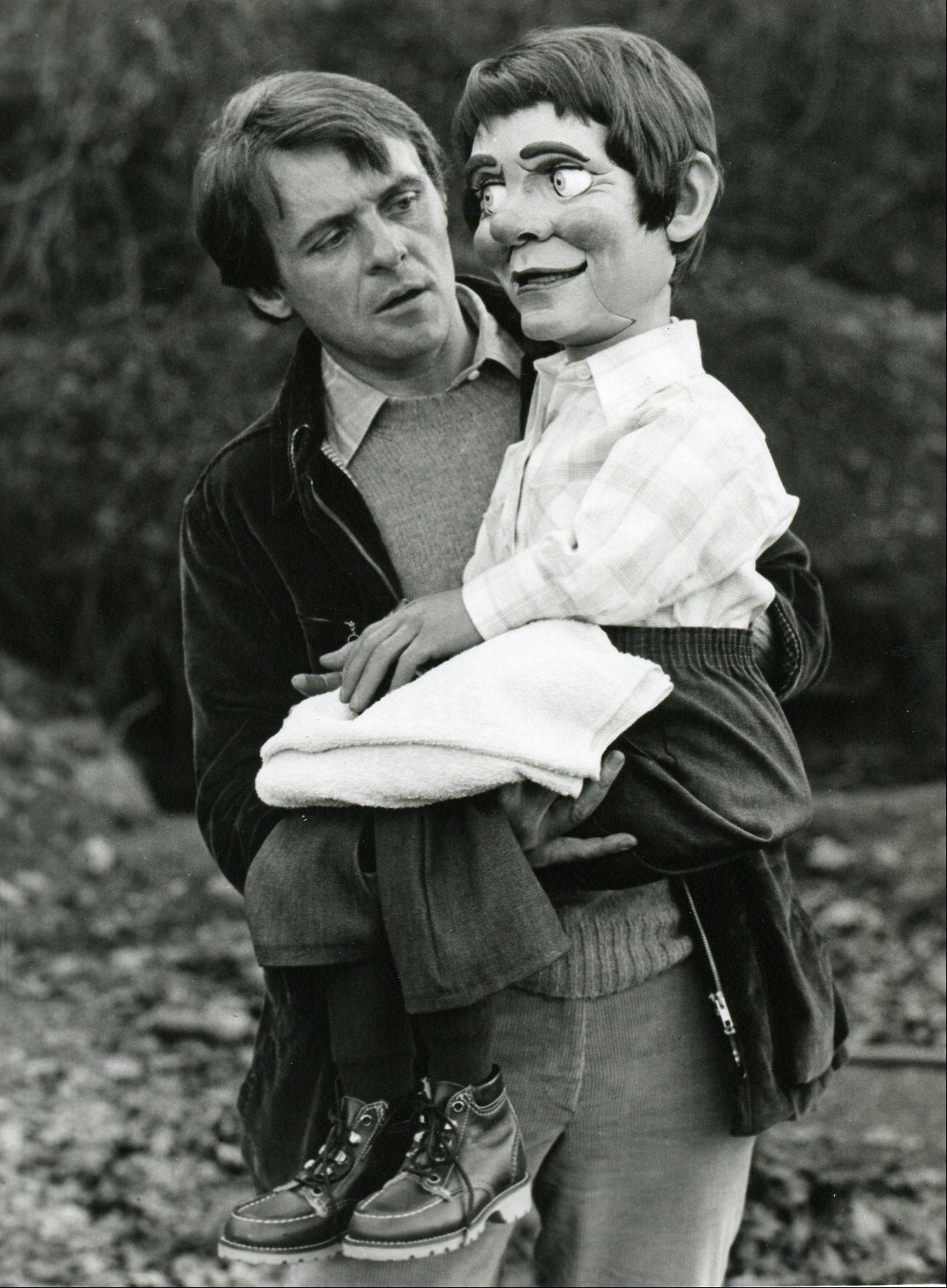 "Anthony Hopkins creeps audiences out with his role as a ventriloquist with an unusual dummy in ""Magic."""