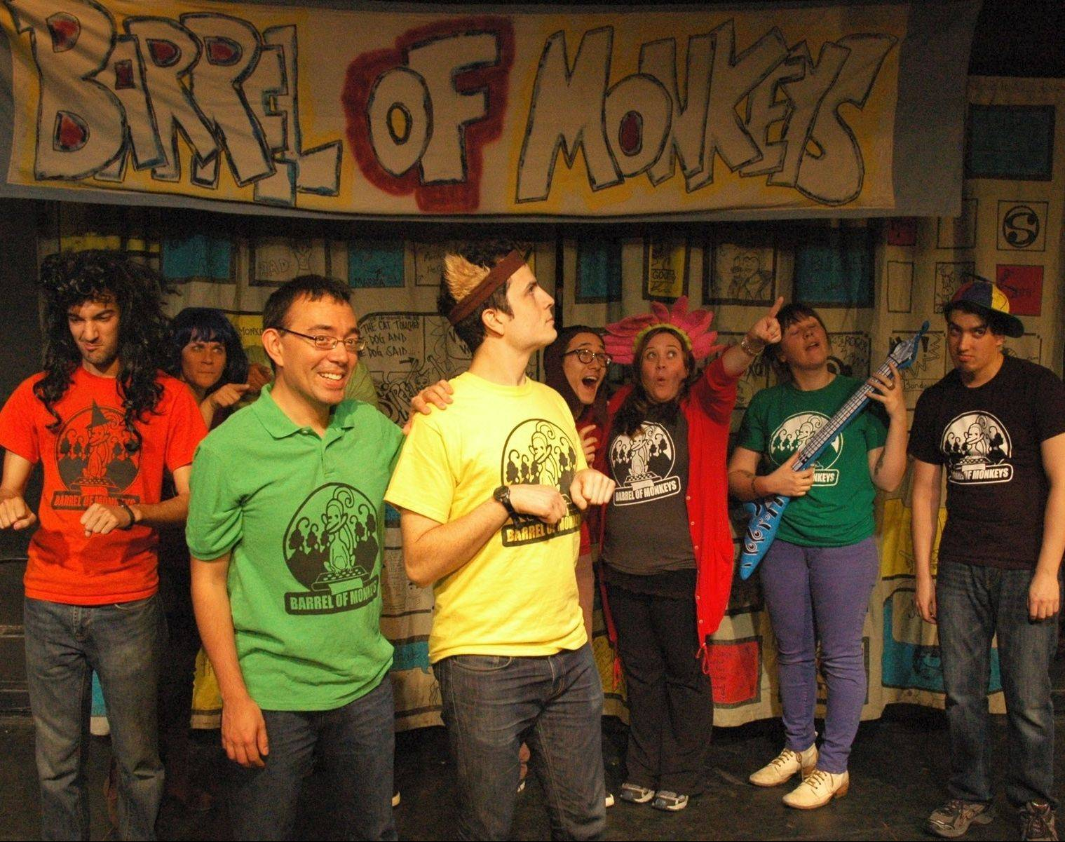 Glendale Heights native Tom Malinowski, in green, performs with Barrel of Monkeys in Chicago.