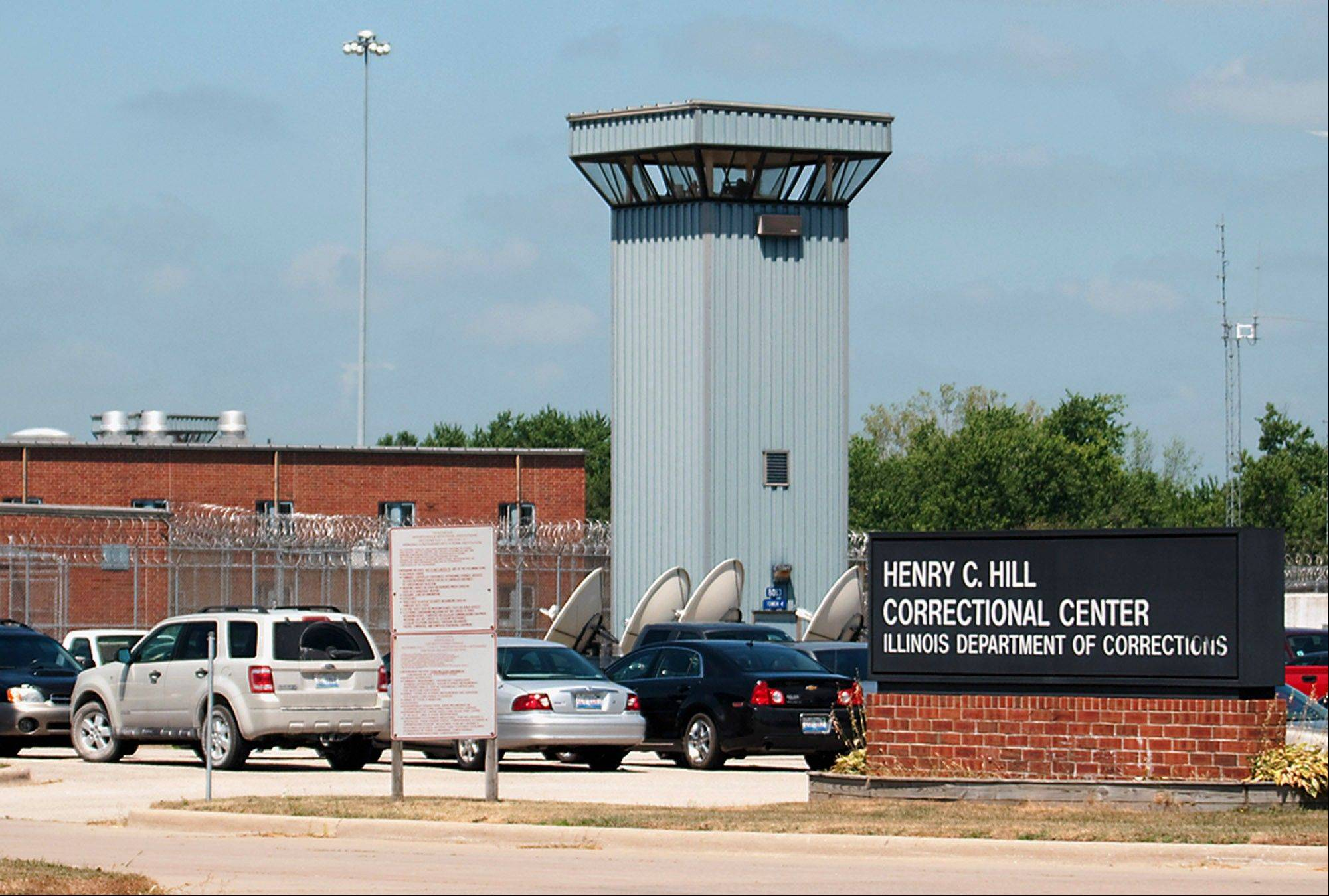 Hill Correctional Center in Galesburg now serves inmates only two meals per day.