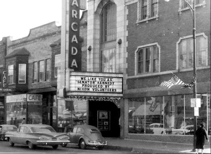 Volunteers for the Nixon-Lodge campaign took a humorous swipe at Sen. John F. Kennedy when he visited St. Charles in October 1960. The theater is across the street from the Hotel Baker, where Kennedy's campaign took a break.