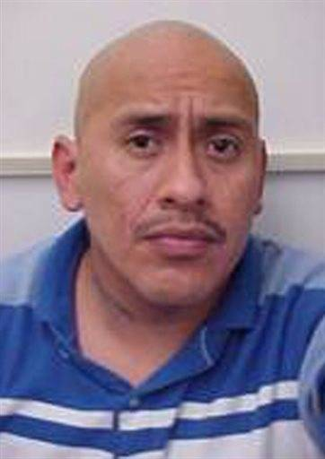 This photo provided by the Ridgecrest, Calif. police shows Sergio Munoz. Ridgecrest police have identified Munoz, 39, as the gunman who fatally shot a woman, injured another and then led police on a wild chase before he was killed in a shootout on Friday, Oct. 25, 2013.