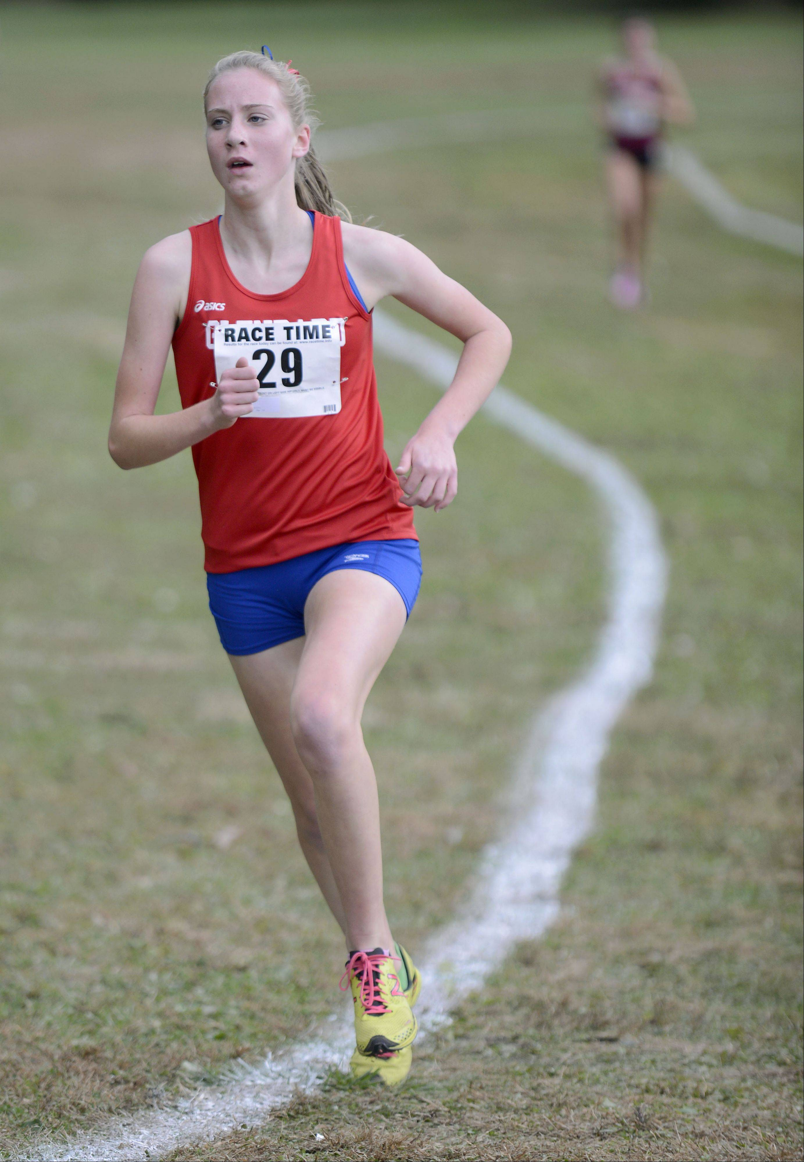 Glenbard South�s Diane Lipa took second place in the Class 2A cross country regional on Saturday, October 26.