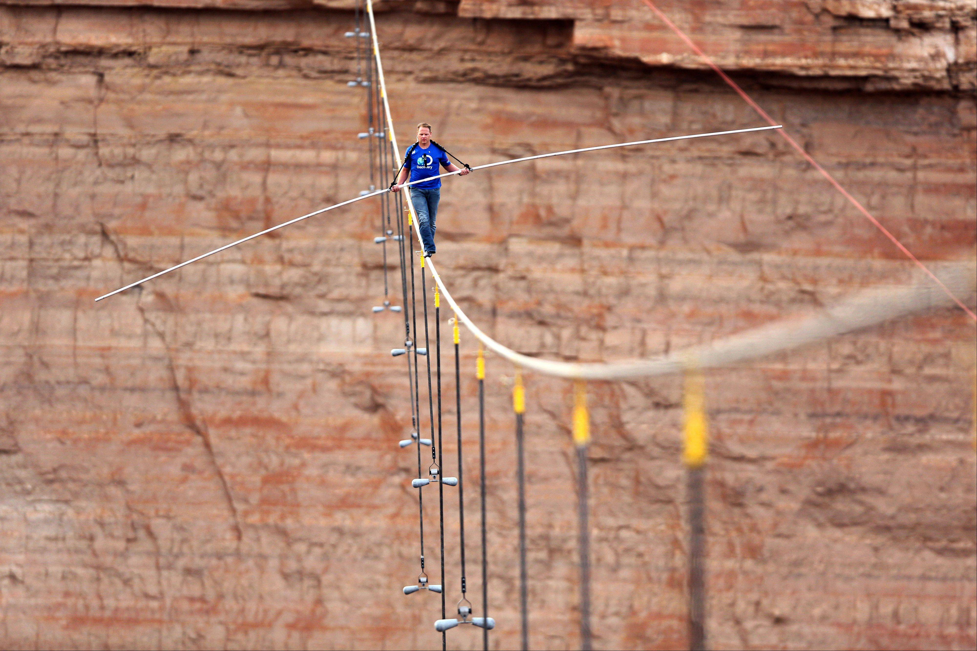 Aerialist Nik Wallenda walked a 2-inch-thick steel cable a quarter mile over the Little Colorado River Gorge, Ariz., in June. TV execs are on the lookout for the next big live event.