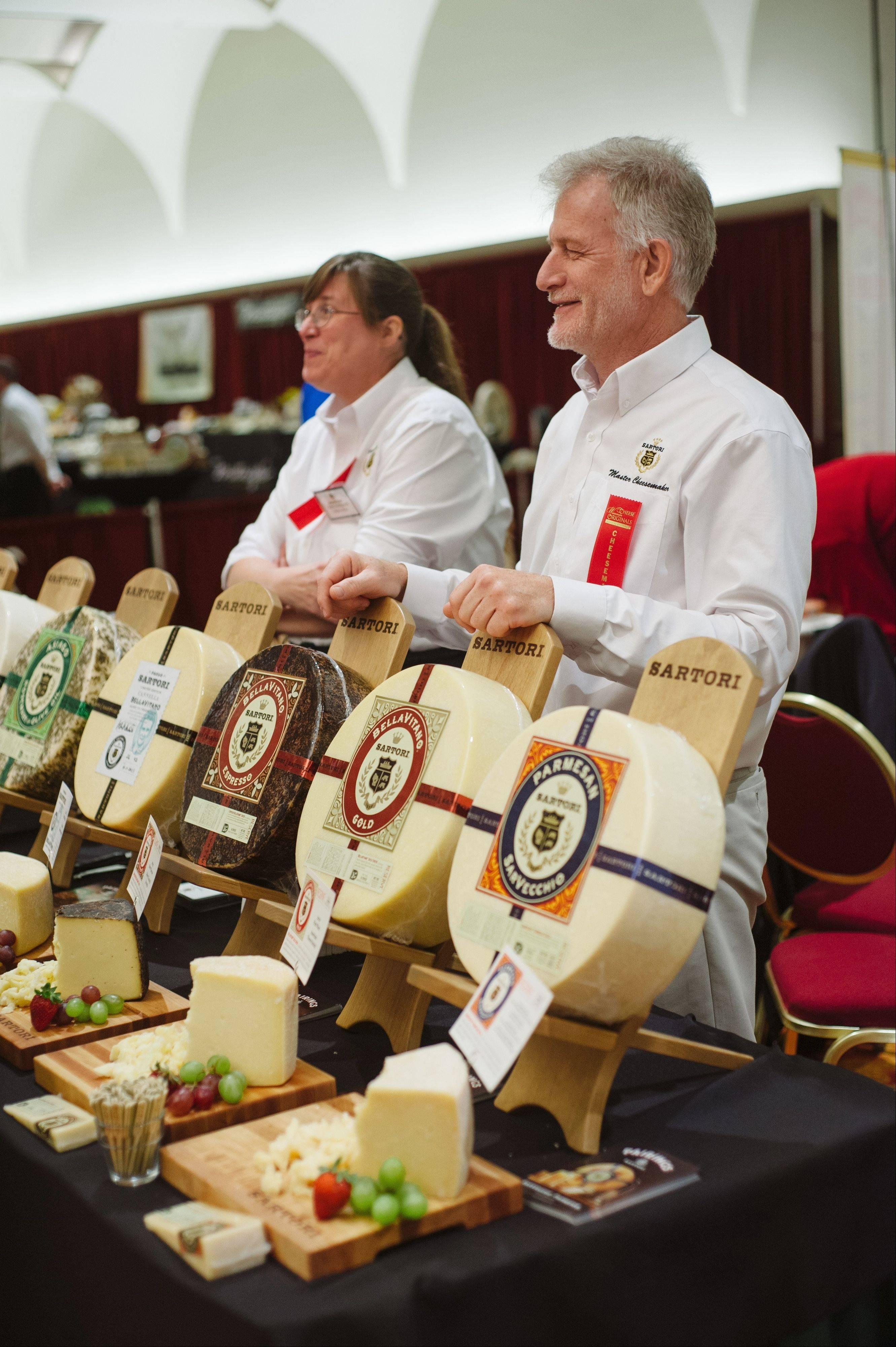 Master Cheesemakers from Sartori Cheese are part of the Meet the Cheesemaker Gala during Wisconsin Cheese Originals Festival Nov. 1-2.