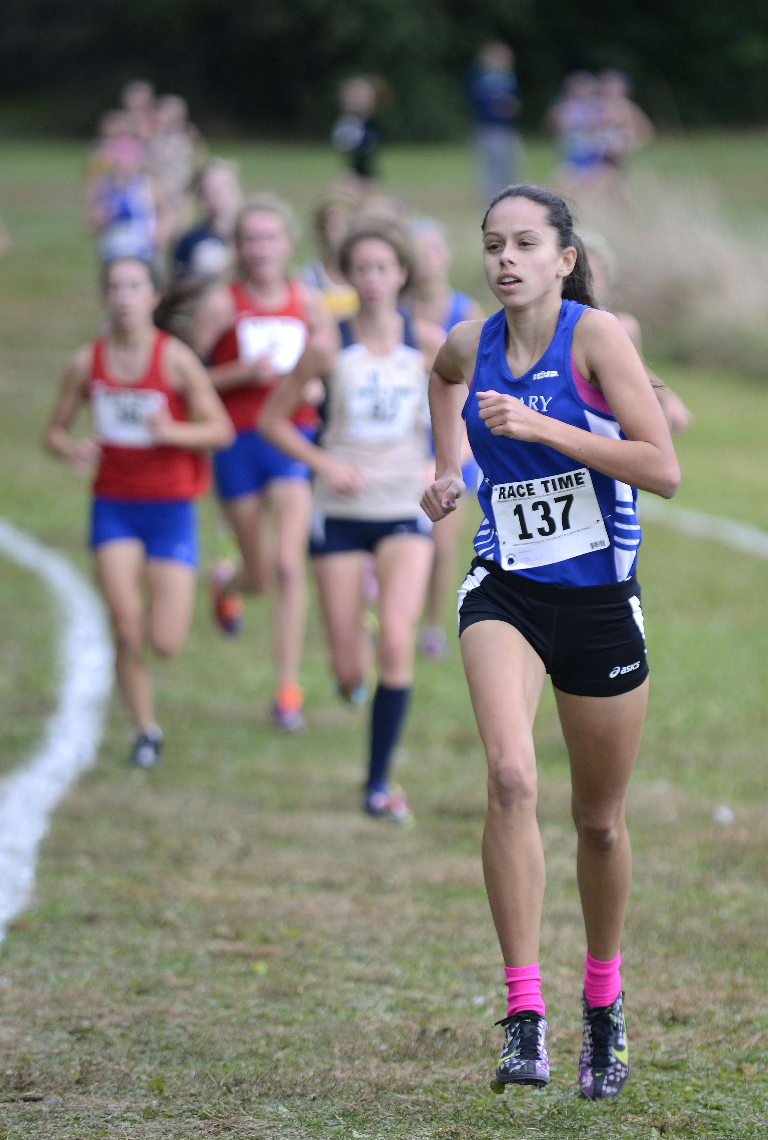 Rosary's Madison Ronzone took tenth place in the Class 2A cross country regional on Saturday, October 26.