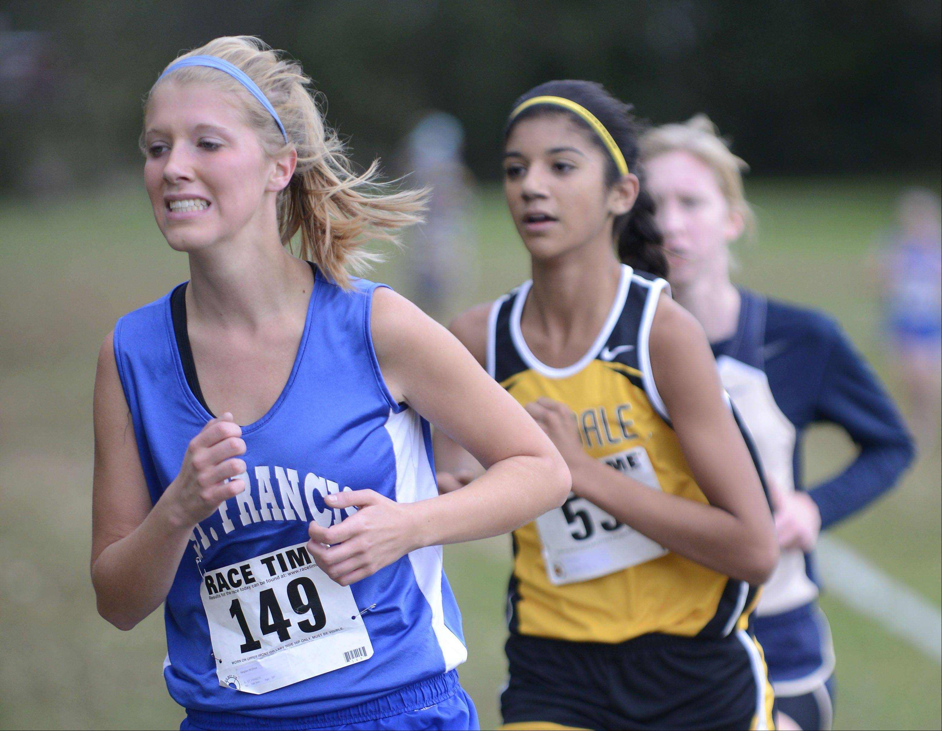St. Francis' Meghan McShea took 17th place in the Class 2A cross country regional on Saturday, October 26.