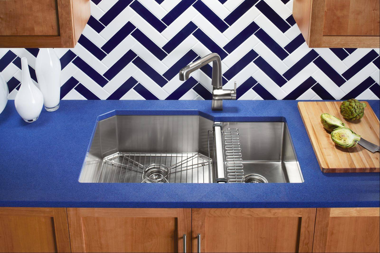 Older sinks may have been only 6 to 7 inches deep, while today's kitchen sinks can be about 9 to 10 inches deep, which means you need lower drain lines installed under the sink for proper drainage.