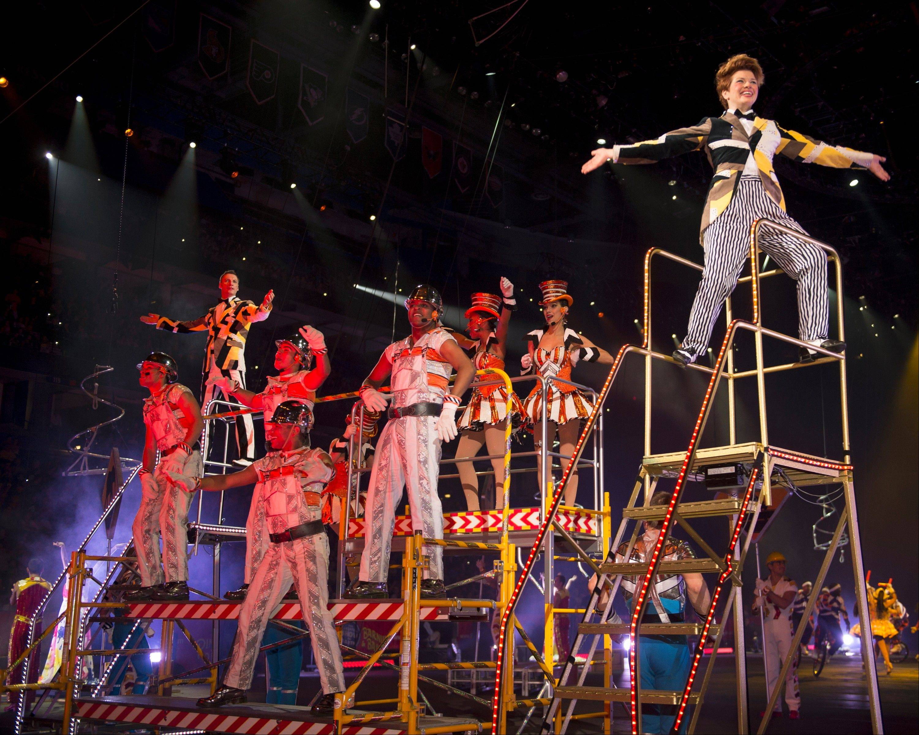 "The Ringling Bros. and Barnum & Bailey Circus production of ""Built to Amaze!"" plays Rosemont's Allstate Arena before heading over to the United Center in Chicago."