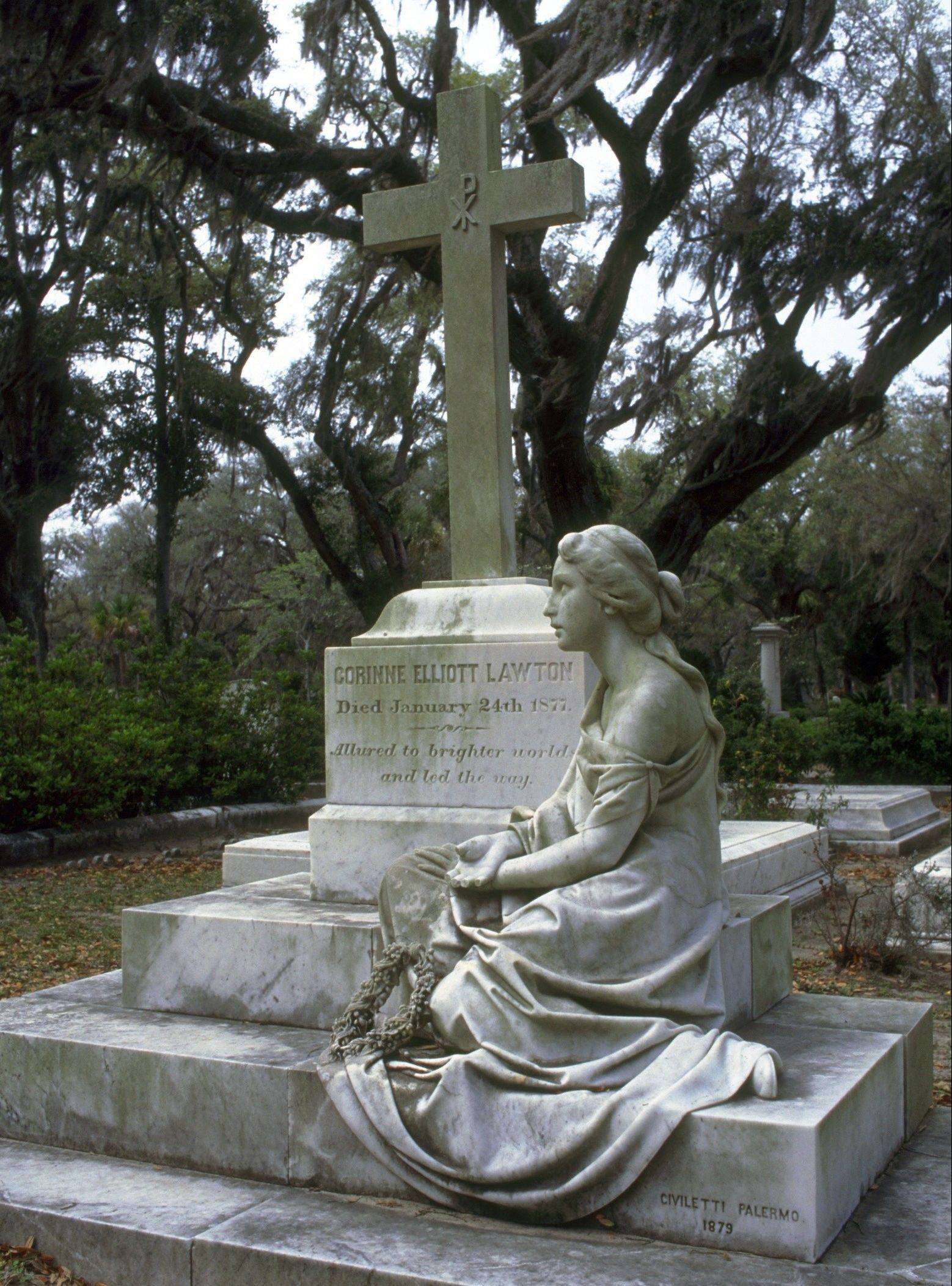 "The Bonaventure Cemetery in Savannah, Ga., is known for its spooky but romantic statues, memorials and more of those live oaks draping grave sites with Spanish moss, was also featured in ""Midnight in the Garden of Good and Evil."""