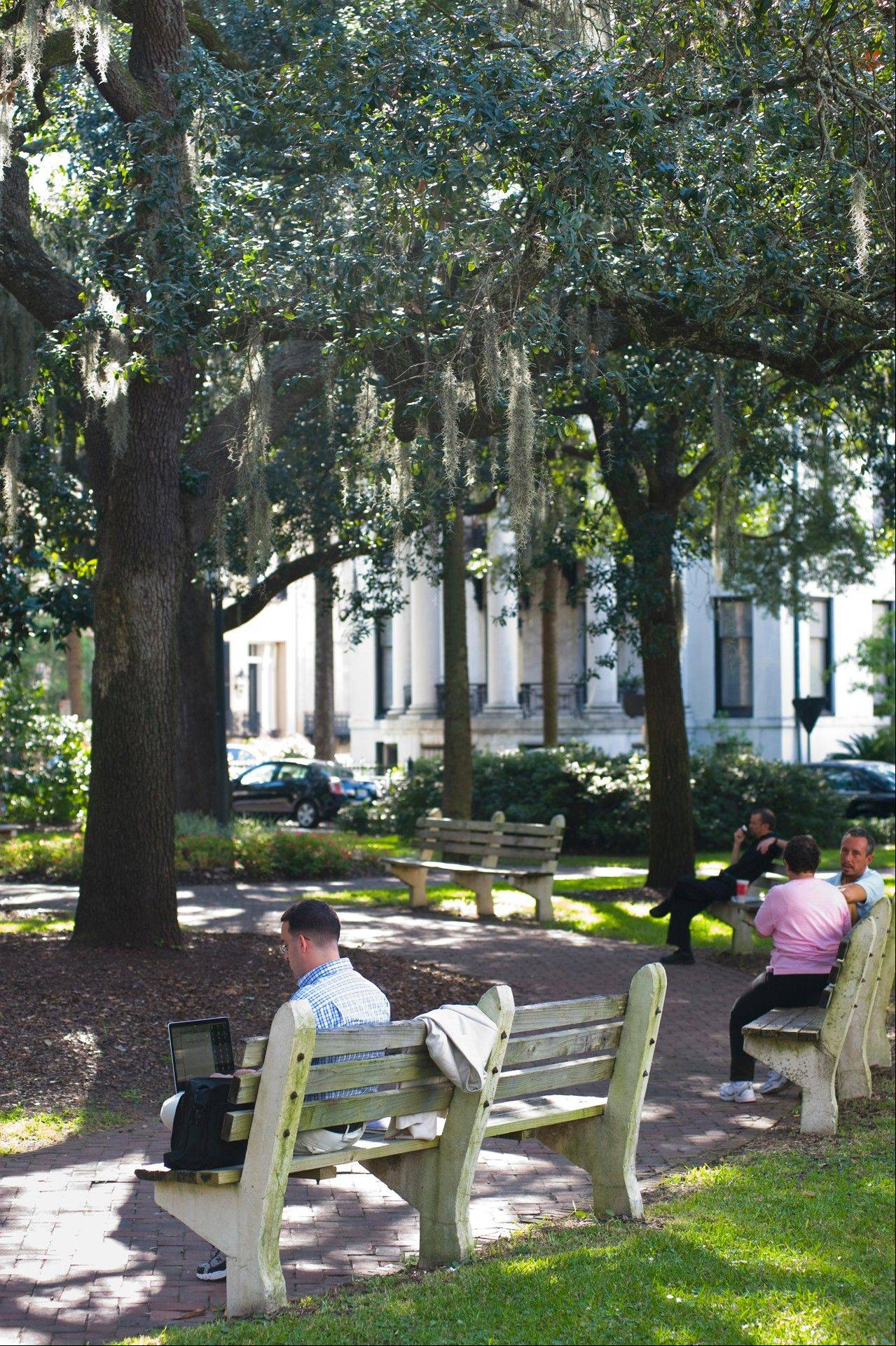 "Savannah's Chippewa Square was featured in the movie ""Forrest Gump."""