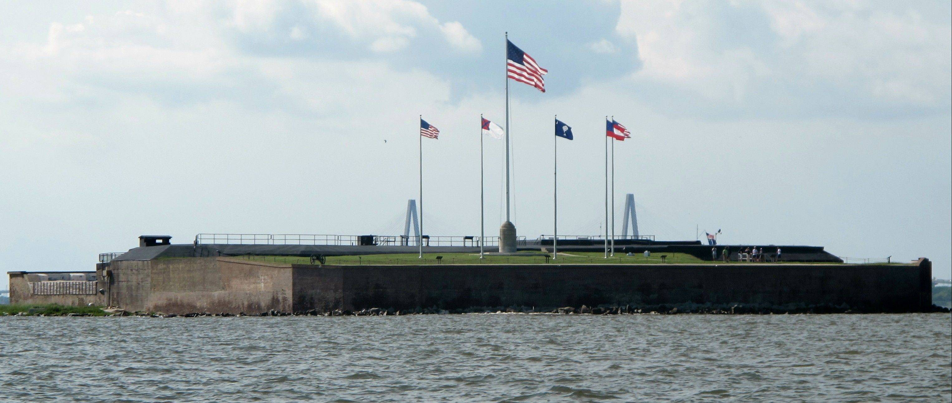 Fort Sumter in the harbor in Charleston, S.C., was where the first shots of the Civil War were fired. The fort is now a museum accessible by a half-hour ferry ride or tour boat.