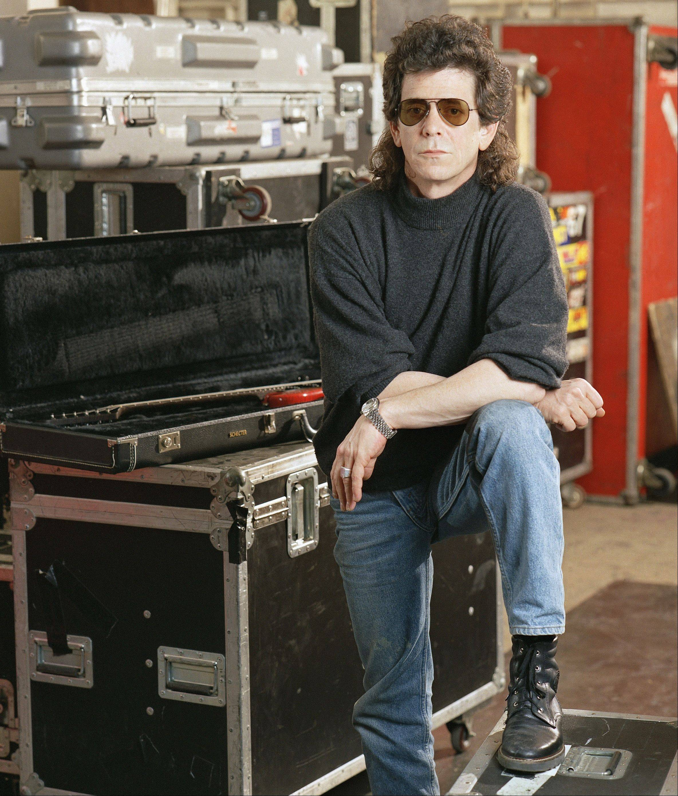 Lou Reed poses at the American Sound Studio on March 27, 1989, in New York.