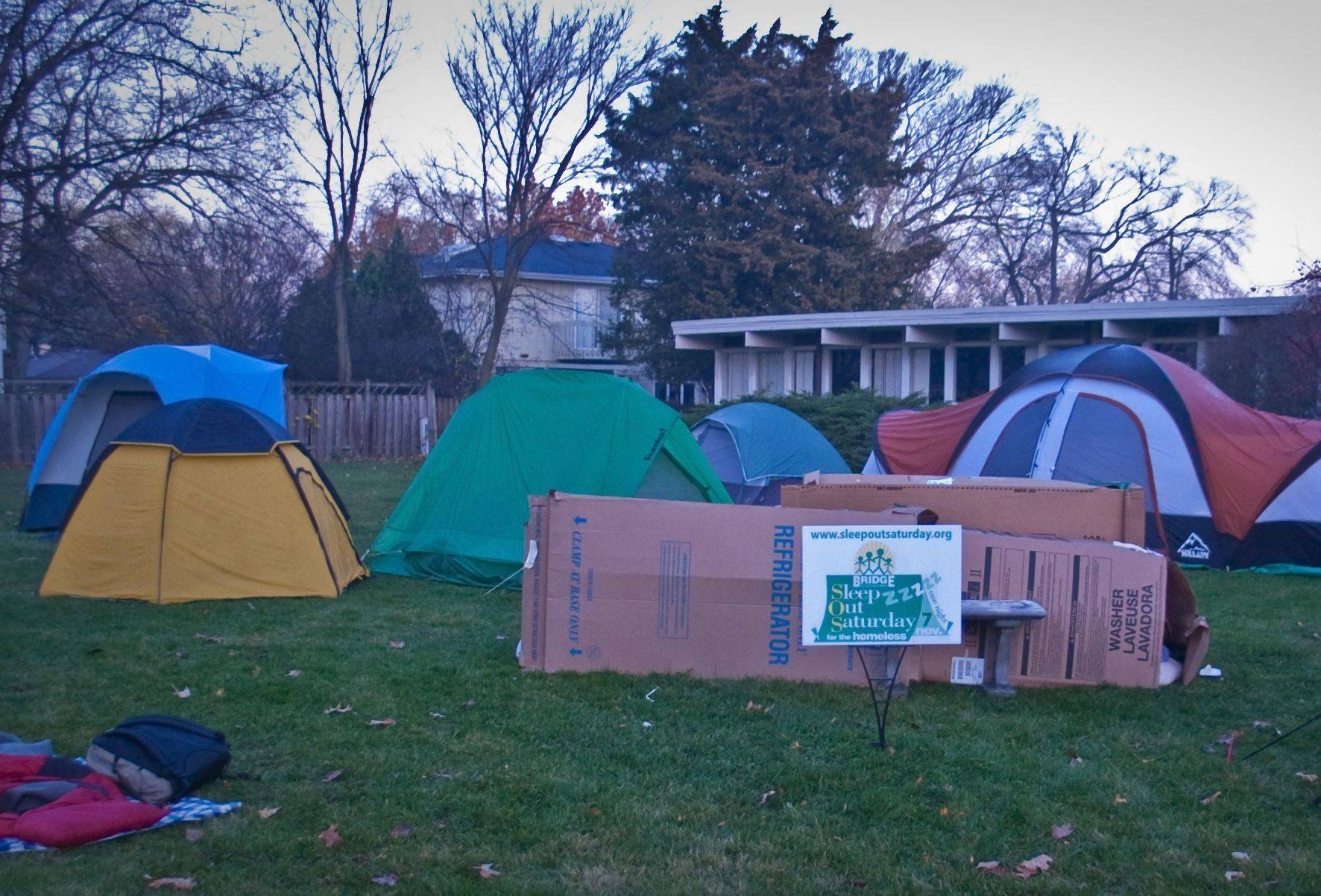 Sleep Out Saturday raised more than $130,000 last year for Bridge Communities' transitional housing program, which serves about 120 families.