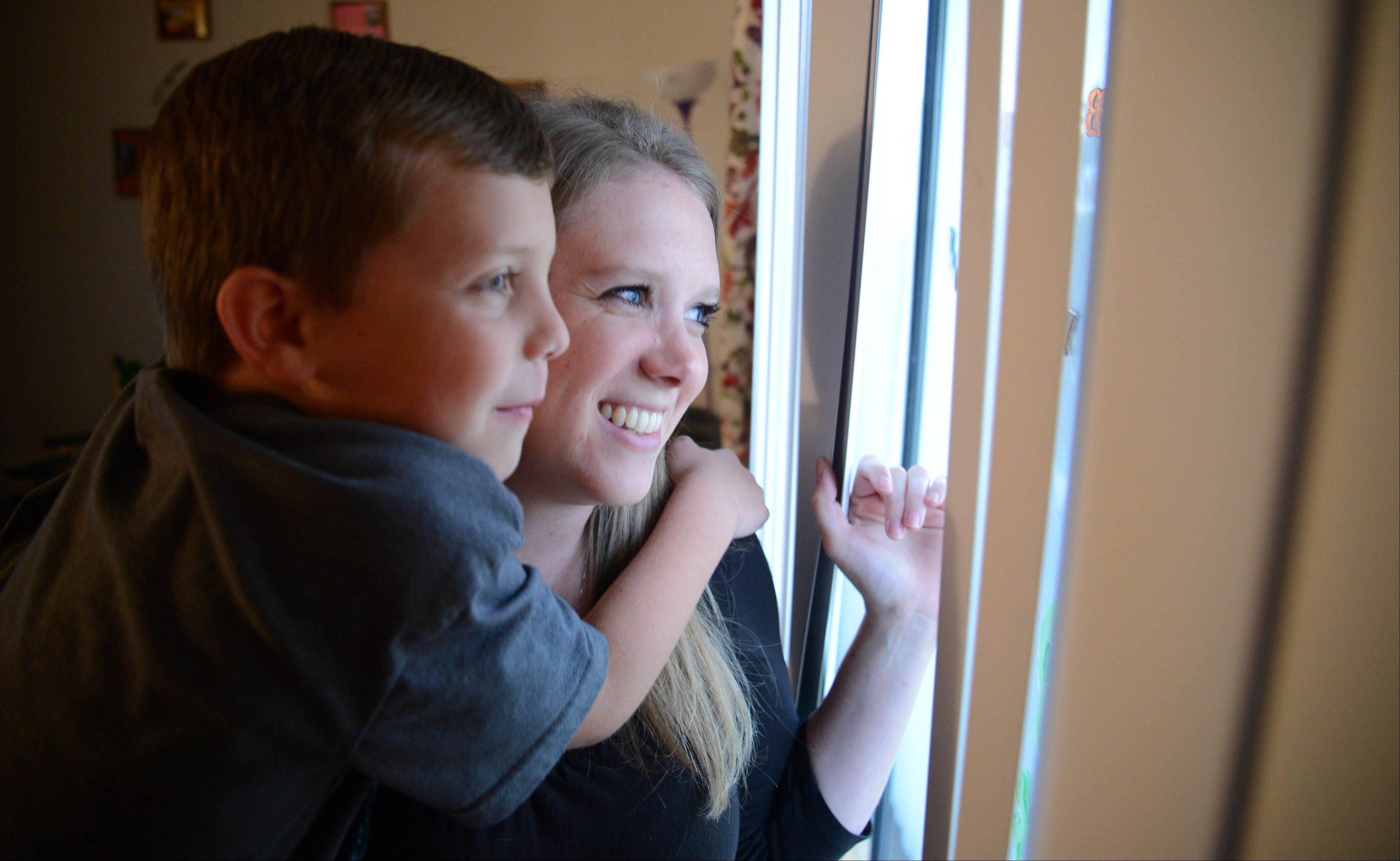 Alecia Hannemann and her son, Aidan, were abandoned by the child's father nearly three years ago. But thanks to help she received from Bridge Communities, she's been able to get an apartment and become financially independent.