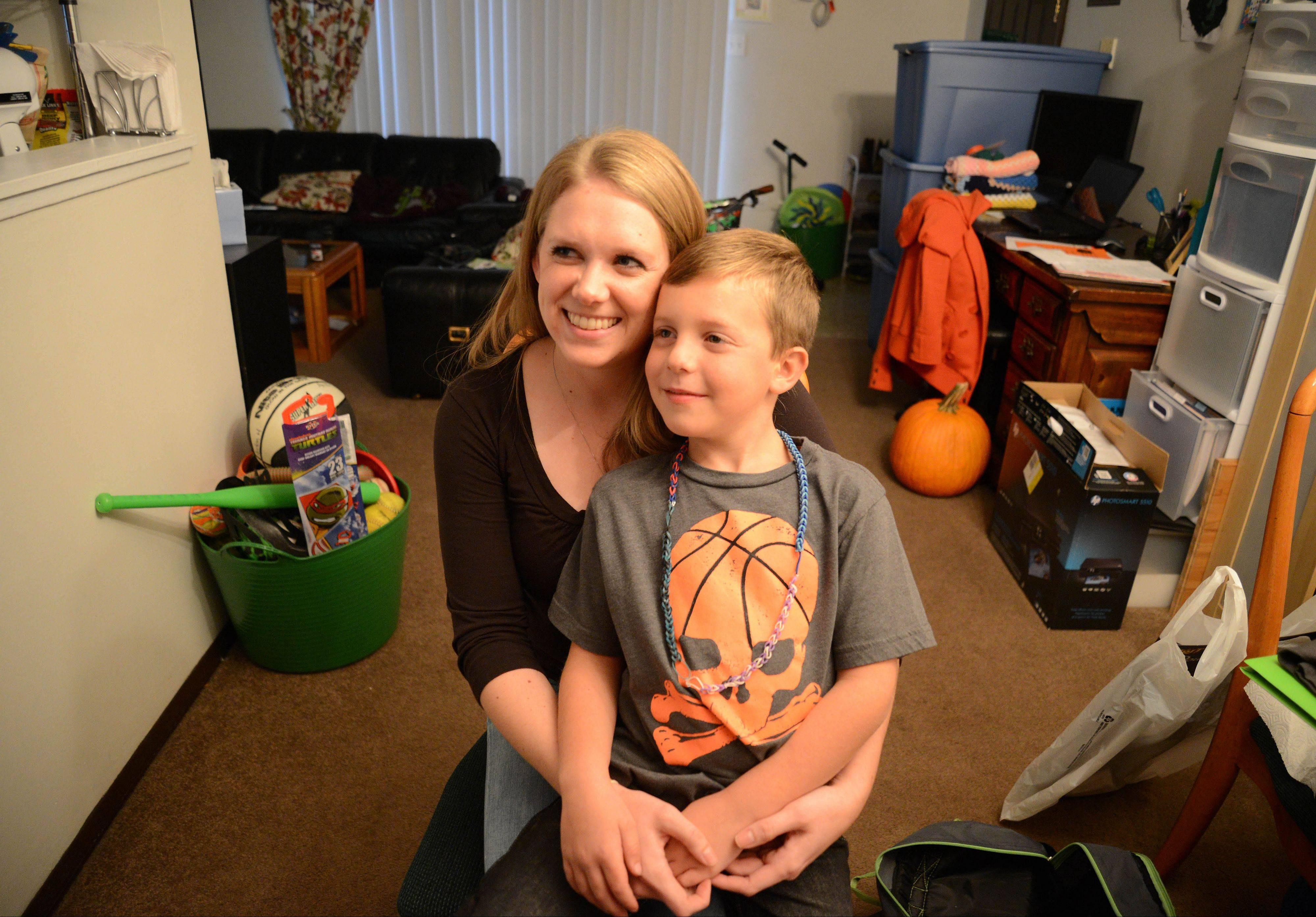 Bridge Communities, a Glen Ellyn-based nonprofit group, has changed the lives of more than 600 homeless families during the past 25 years. Alecia Hannemann and her 6-year-old son, Aidan, recently got help from the organization.