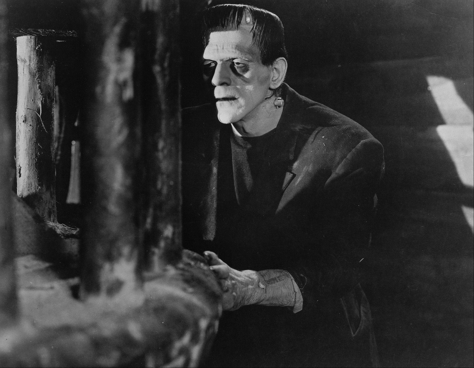 "In this photo released by Universal Studios Home Entertainment, actor Boris Karloff appears as Frankenstein's Monster in a scene from the 1931 classic film ""Frankenstein."" Like all monsters, this one's only real in your imagination; it took a lot of makeup to make Karloff look like that."