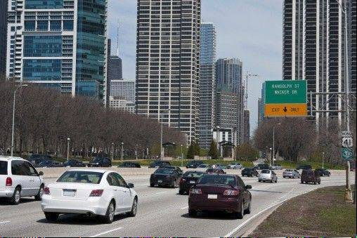 A new 2-mile stretch of Chicago's iconic Lake Shore Drive opened to car traffic Sunday after completion of the $64 million project, which officials touted as a stimulus for economic development.