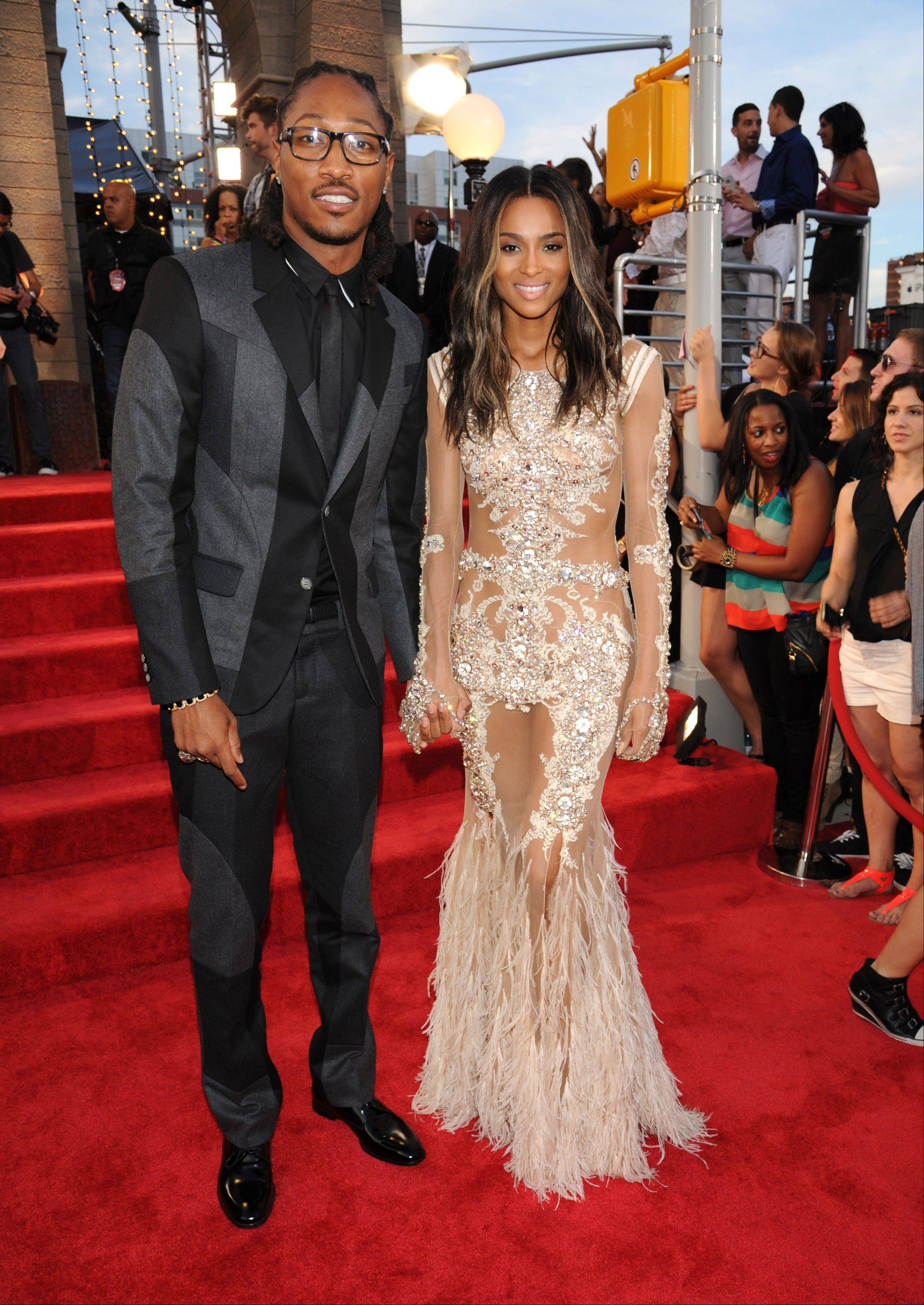 Ciara's future is Future: The R&B singer and the rapper-producer are engaged.