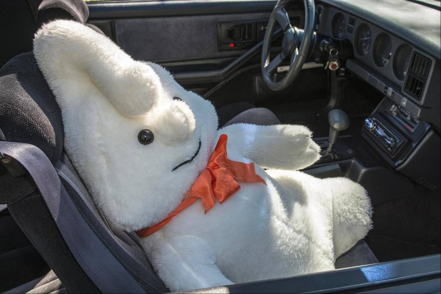 Fritz keeps a friendly looking ghost with him to ride shotgun when he travels to car shows.