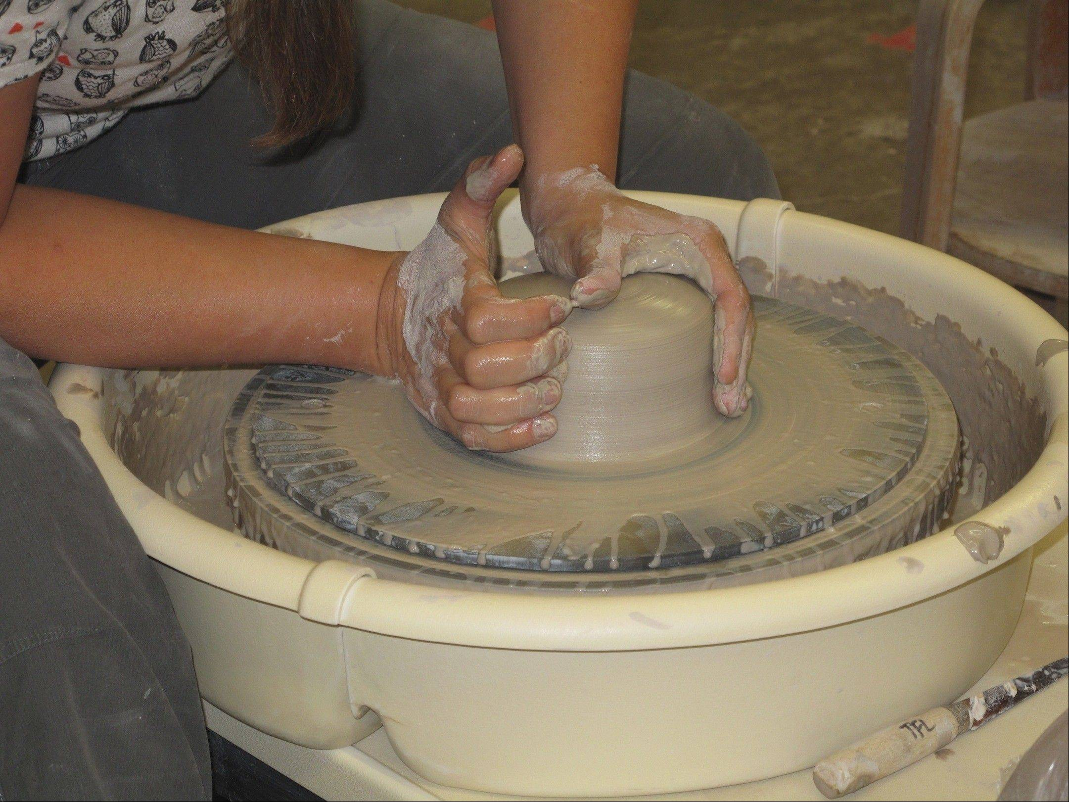 Artist Jodi Younglove teaches beginners through advanced ceramics classes, and she is available for private instruction at Fine Line, as well as in her home studio in Wheaton.