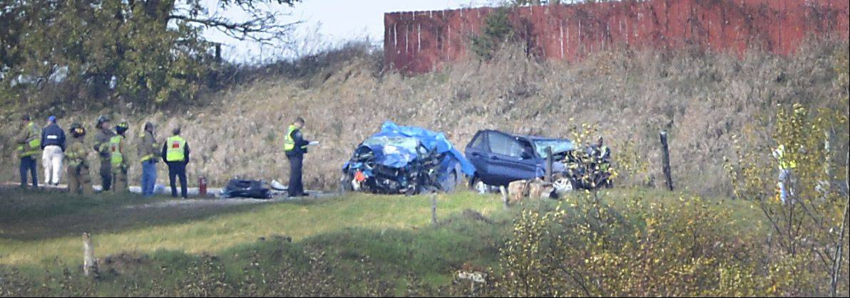 Investigators were at the site of a fatal accident on Route 38, west of Meredith Road, Sunday afternoon in Maple Park.