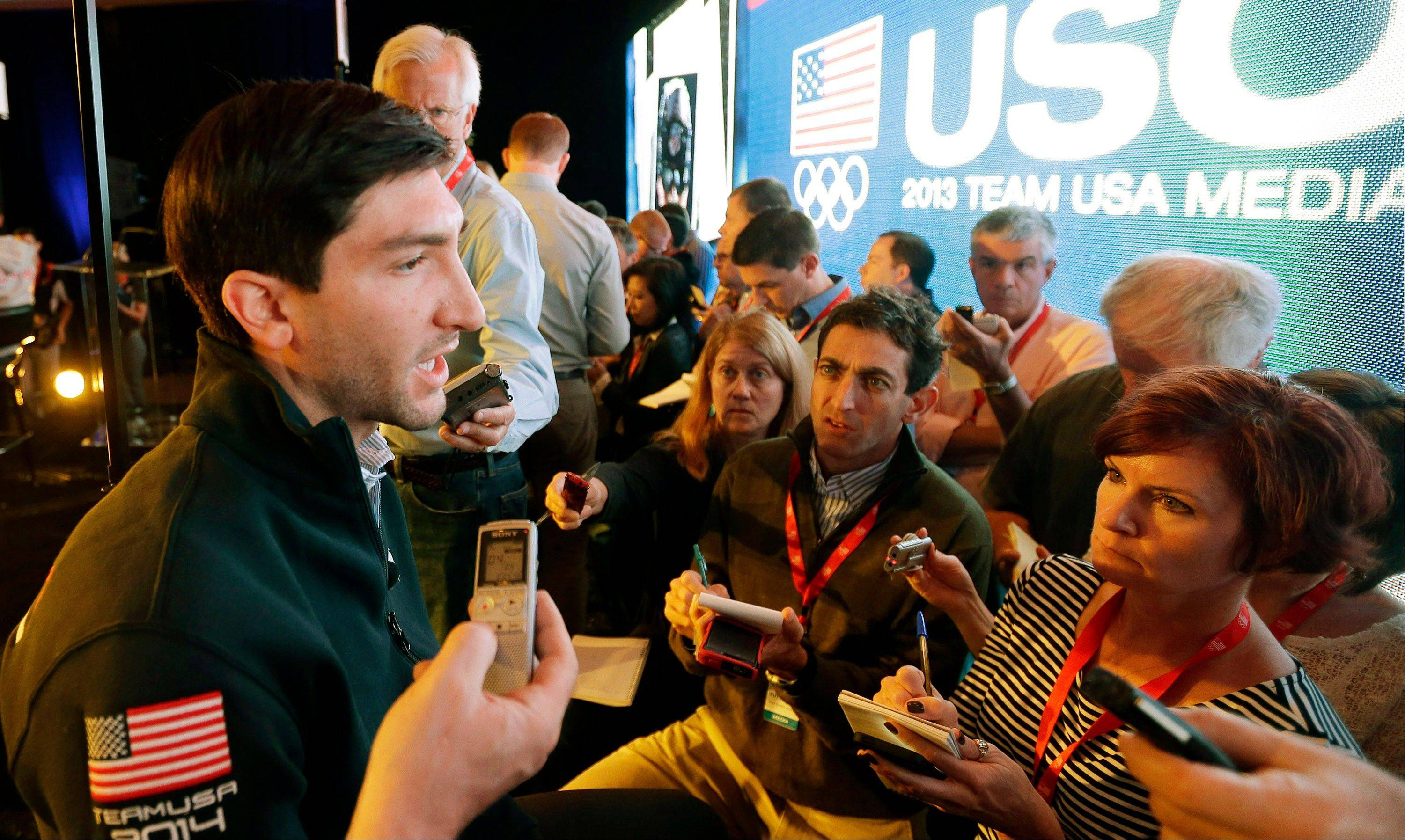 Olympic figure skating champion Evan Lysacek says he's doing double and triple jumps in practice as he tries to come back from injury in time to defend his title in Sochi, Russia.