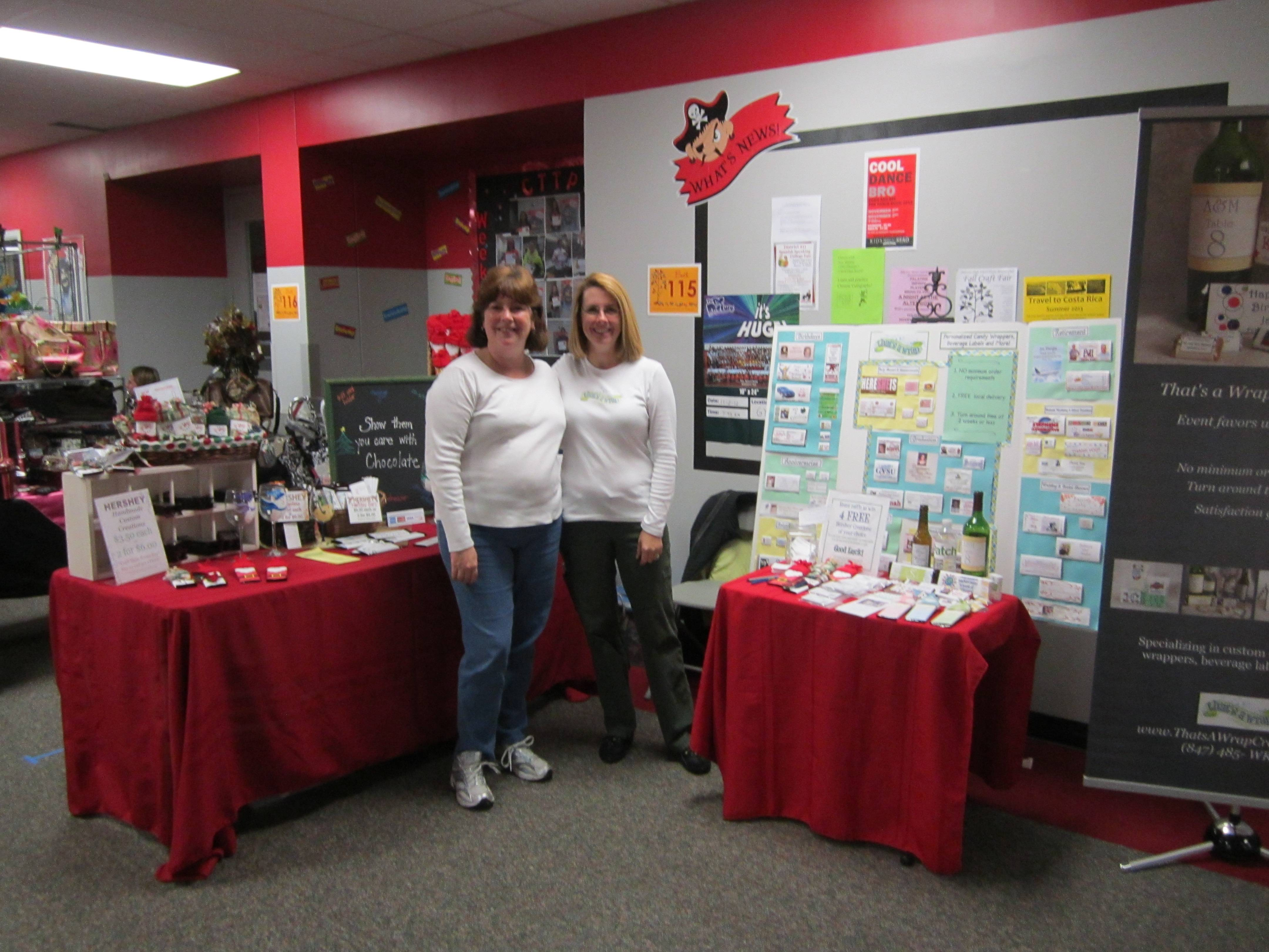 Mary Deruz (on right), a local vendor from Palatine, will be back with her booth for That's a Wrap Creations.