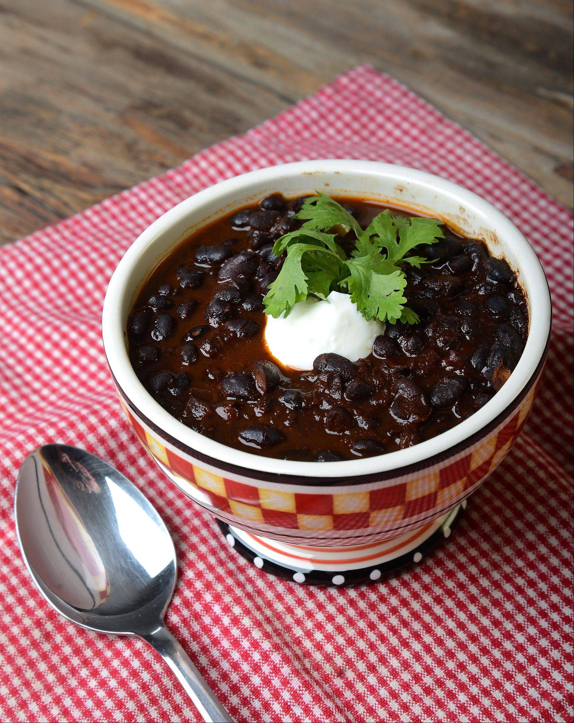 Espresso Black Bean Chili starts with dried beans (not canned) and M. Eileen Brown says you can taste the difference.