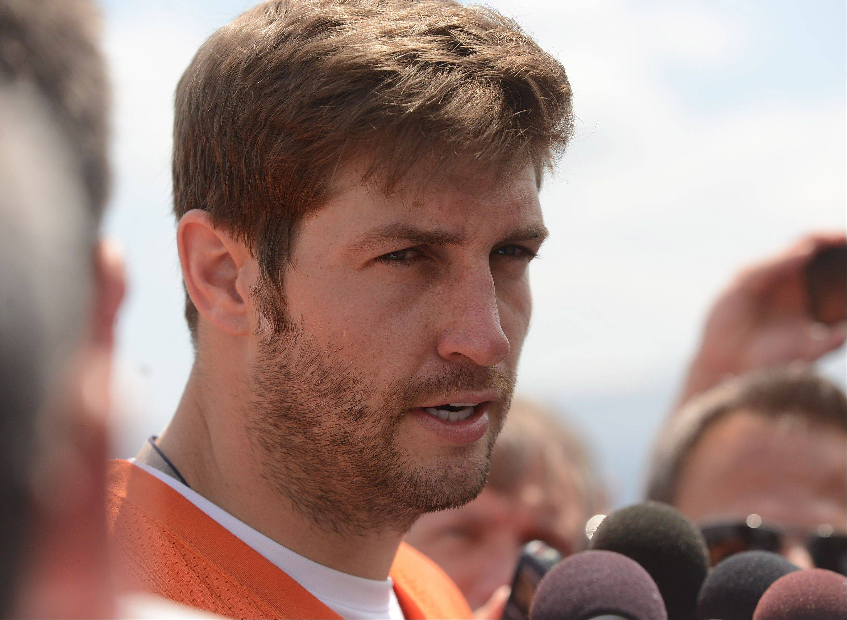 He's feeling better, but quarter Jay Cutler isn't as optimistic as Brandon Marshall is about when Cutler will be cleared to play for the Bears.