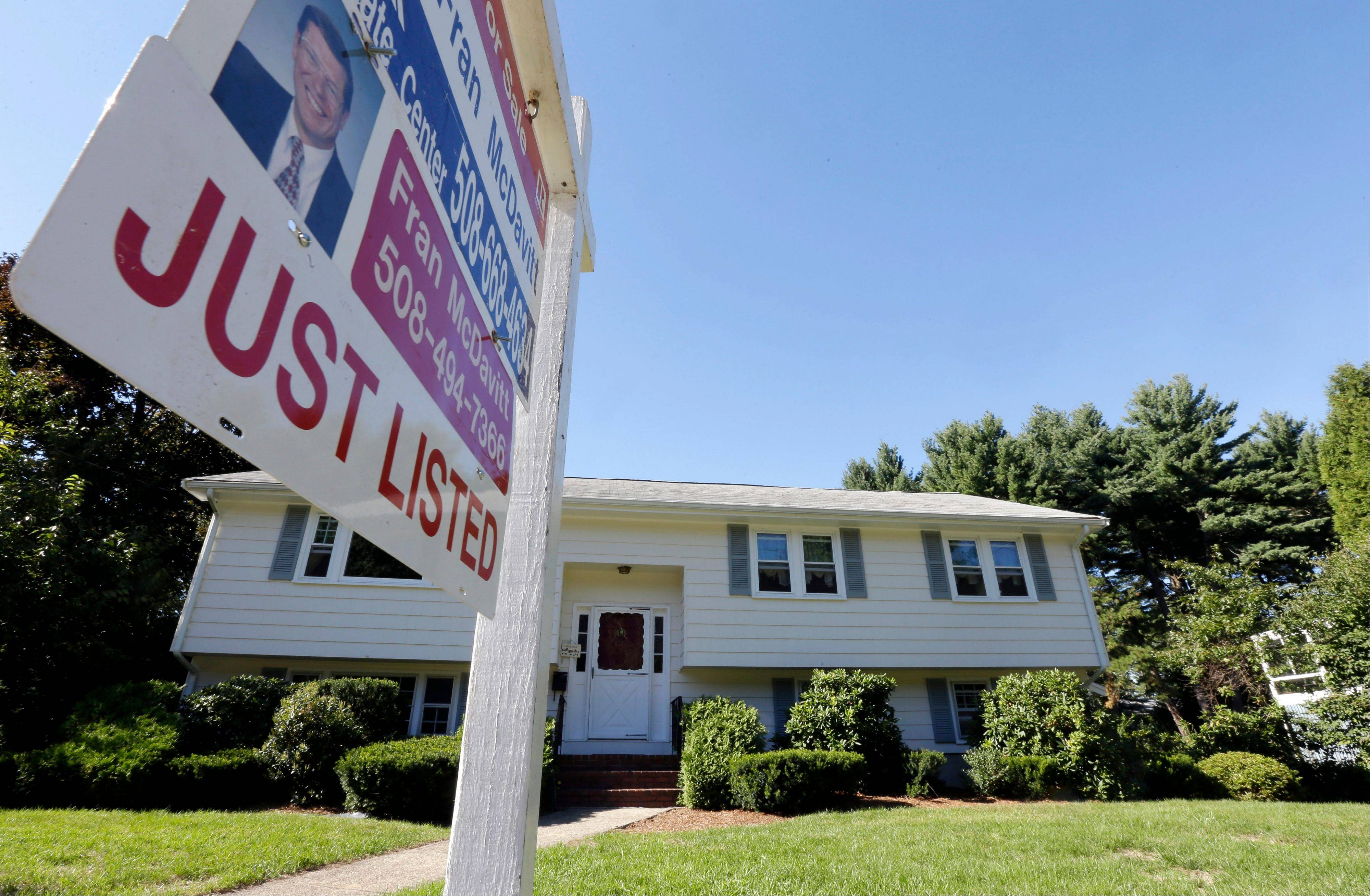 U.S. home prices rose in August from a year earlier at the fastest pace since February 2006. But the price gains slowed in many cities from July, a sign that the spike in prices over the past year may have peaked.