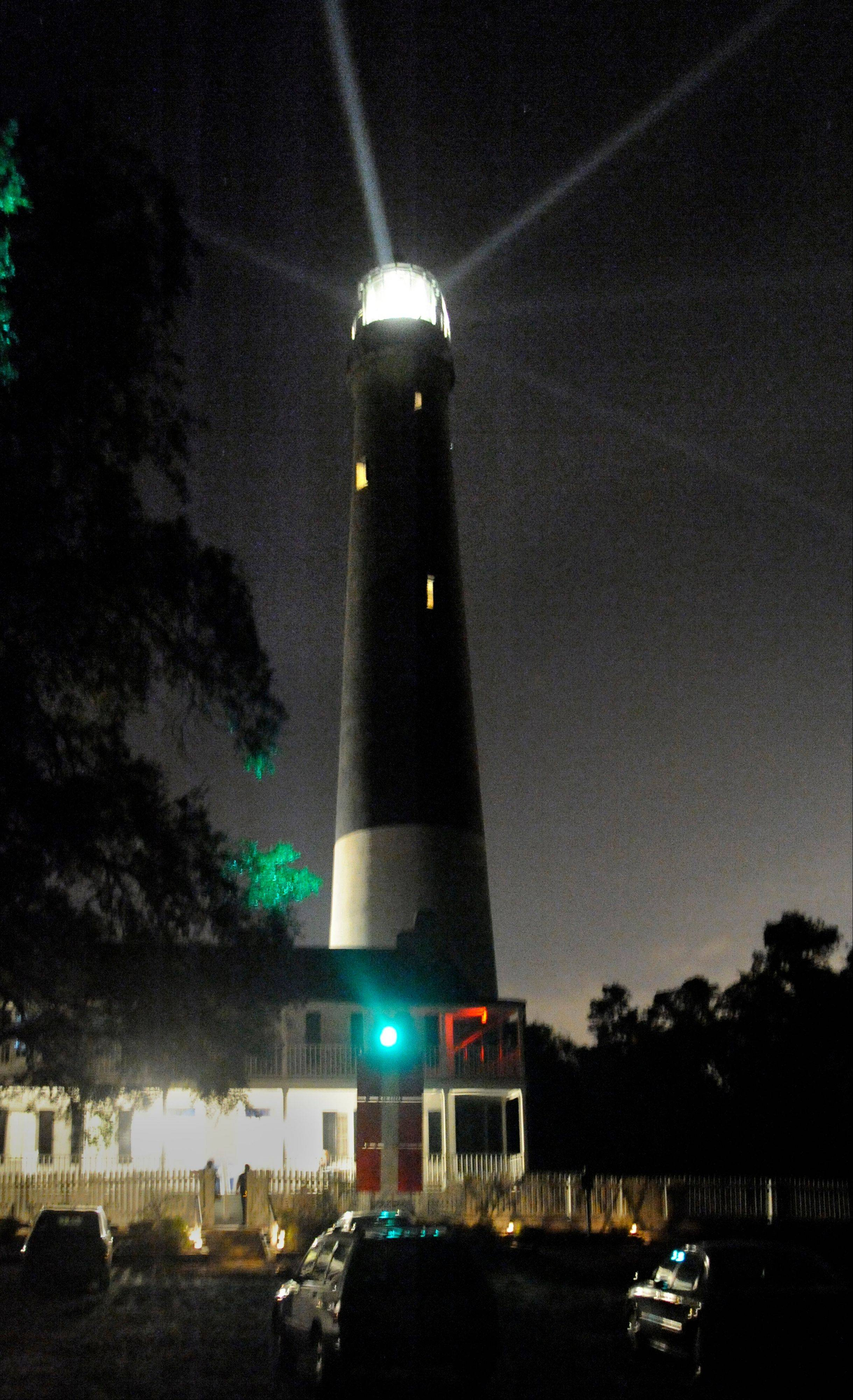 Ghost tours are held at night at the Pensacola Lighthouse in Pensacola, Fla.
