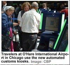 Chicago�s O�Hare International Airport was the first airport in the country to get the technology this summer. Aviation officials say the system has reduced peak wait times at O�Hare by 16 minutes.