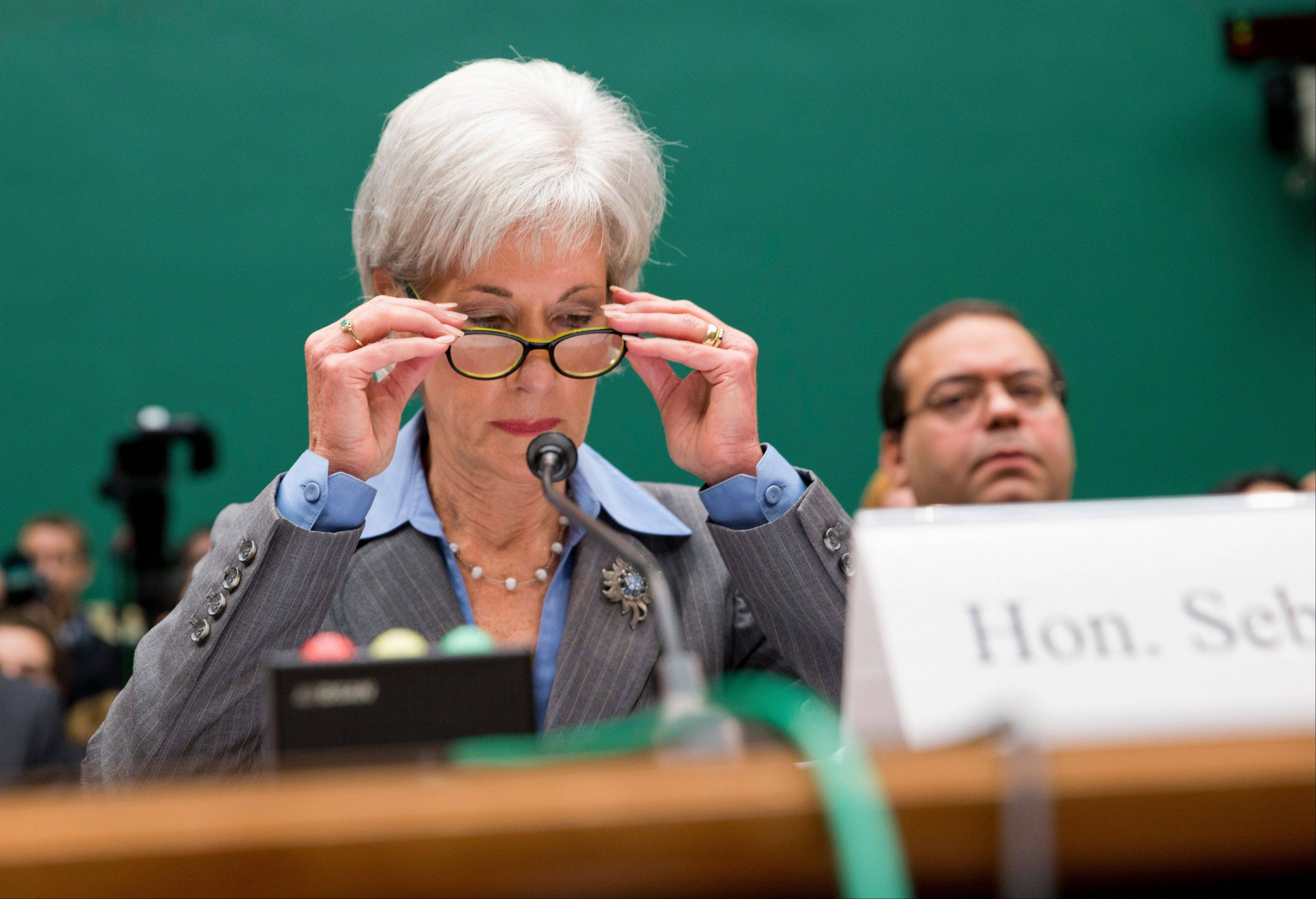 Health and Human Services Secretary Kathleen Sebelius, testifying on Capitol Hill Wednesday, apologized to consumers who have wasted so much time dealing with technical problems on the Obama administration's health insurance website.