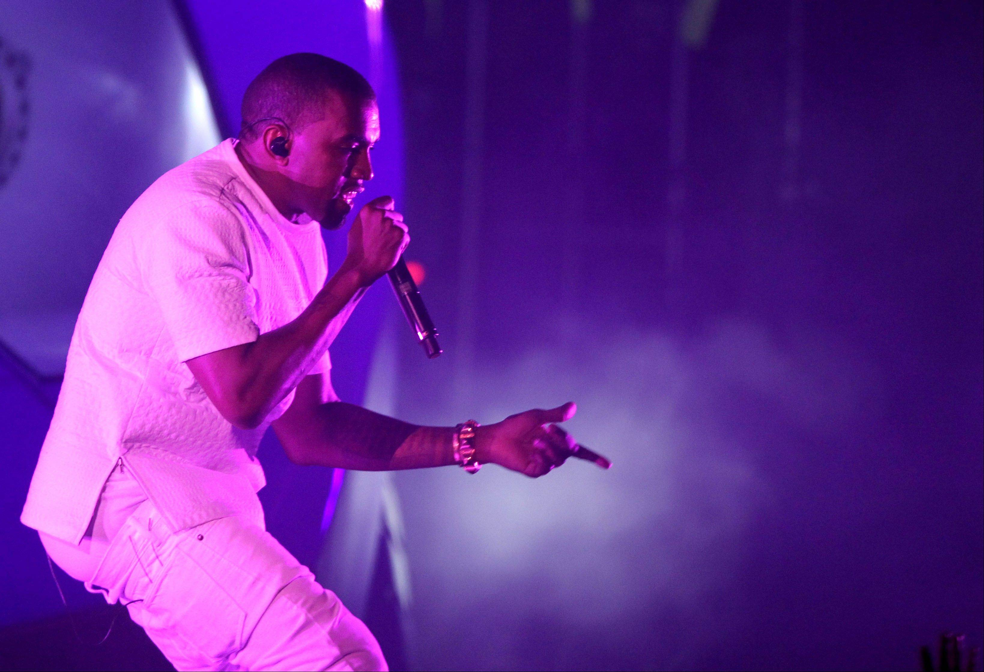 Kanye West headlines the Chicago's United Center next week.