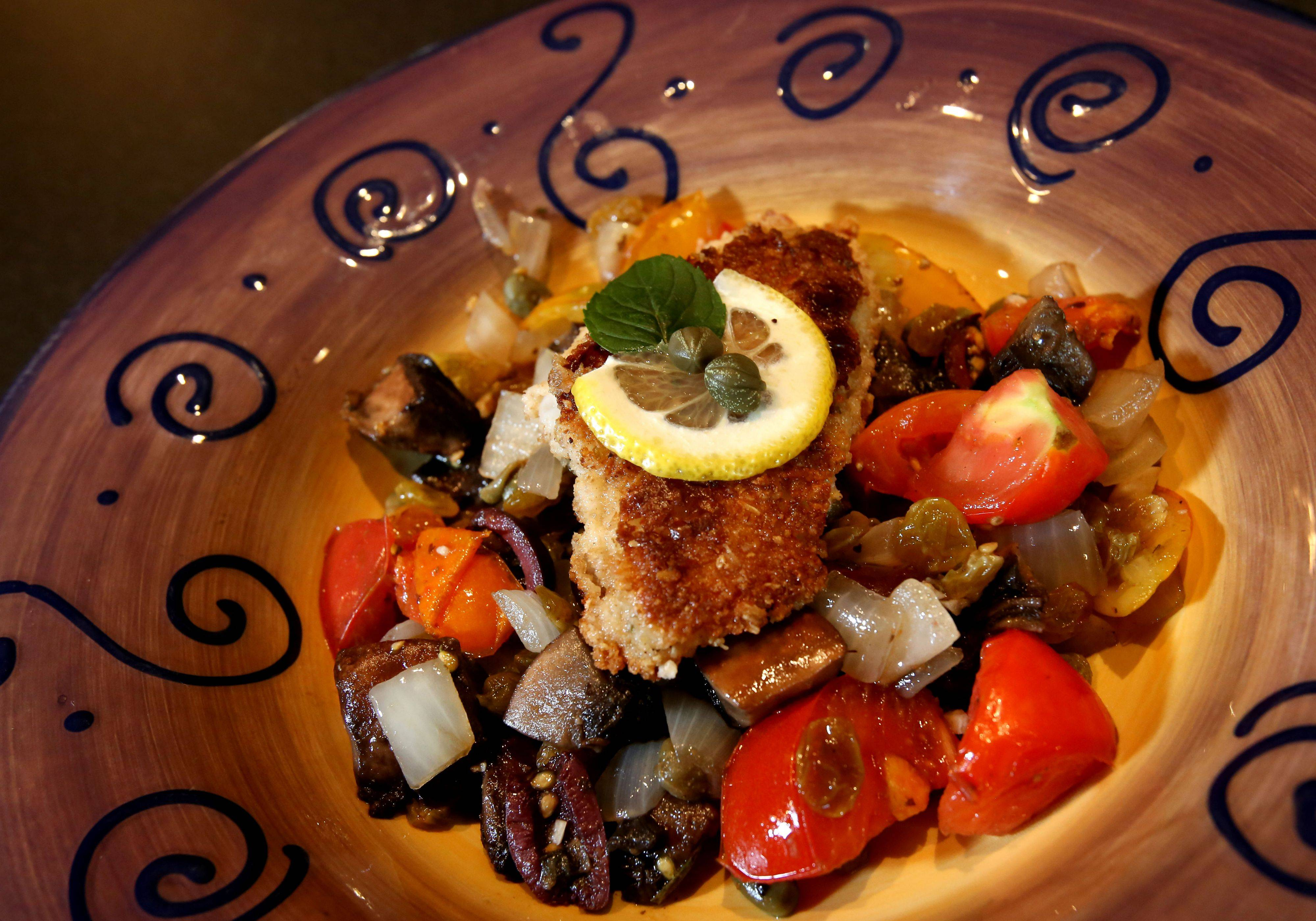 Lori Motyka won the cod, portobello and dried current challenge with this Mediterranean-inspired dish.