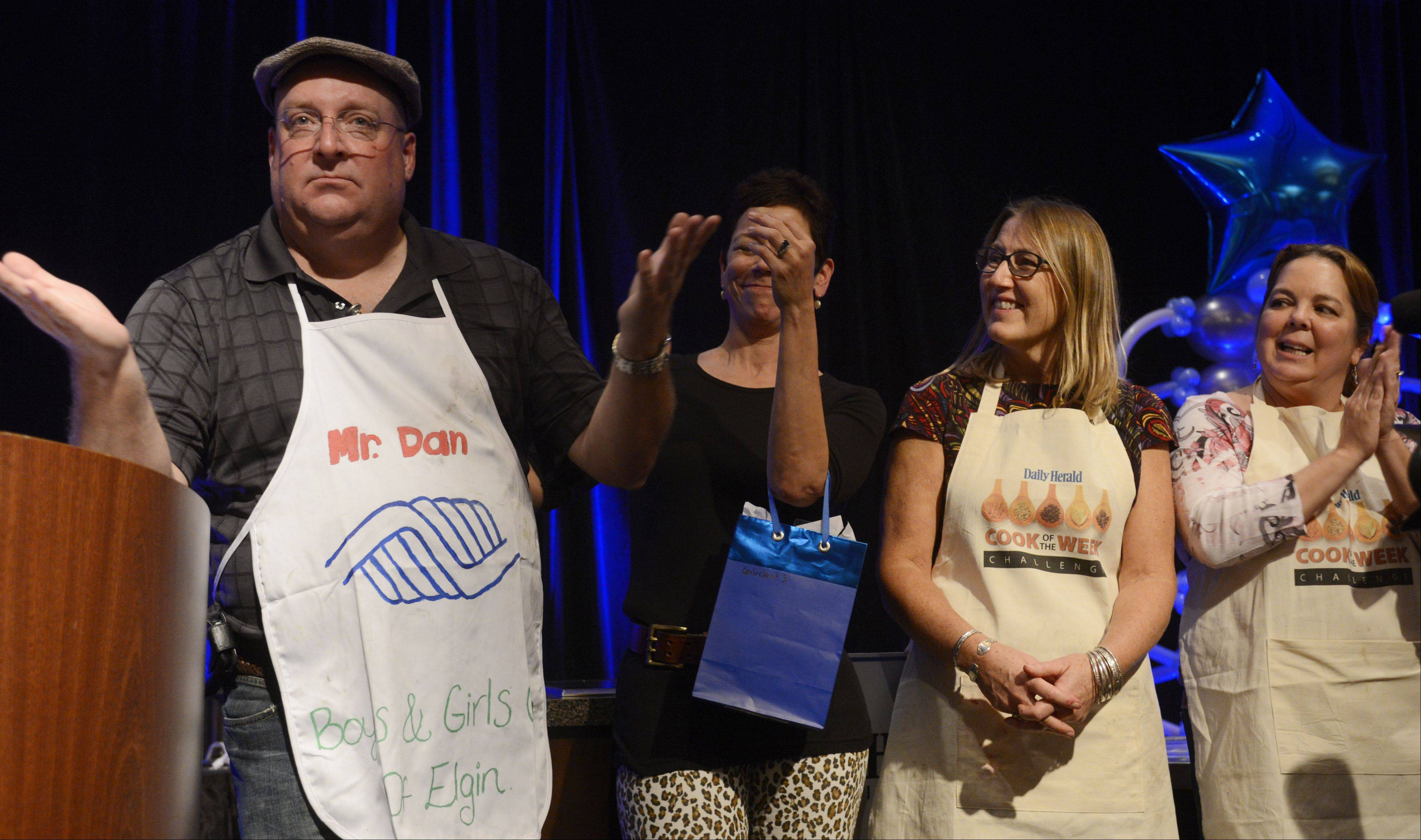 Dan Rich of Elgin is the winner of the Daily Herald Cook of the Week Cookoff finals, held at the Hyatt Regency Schaumburg Wednesday.